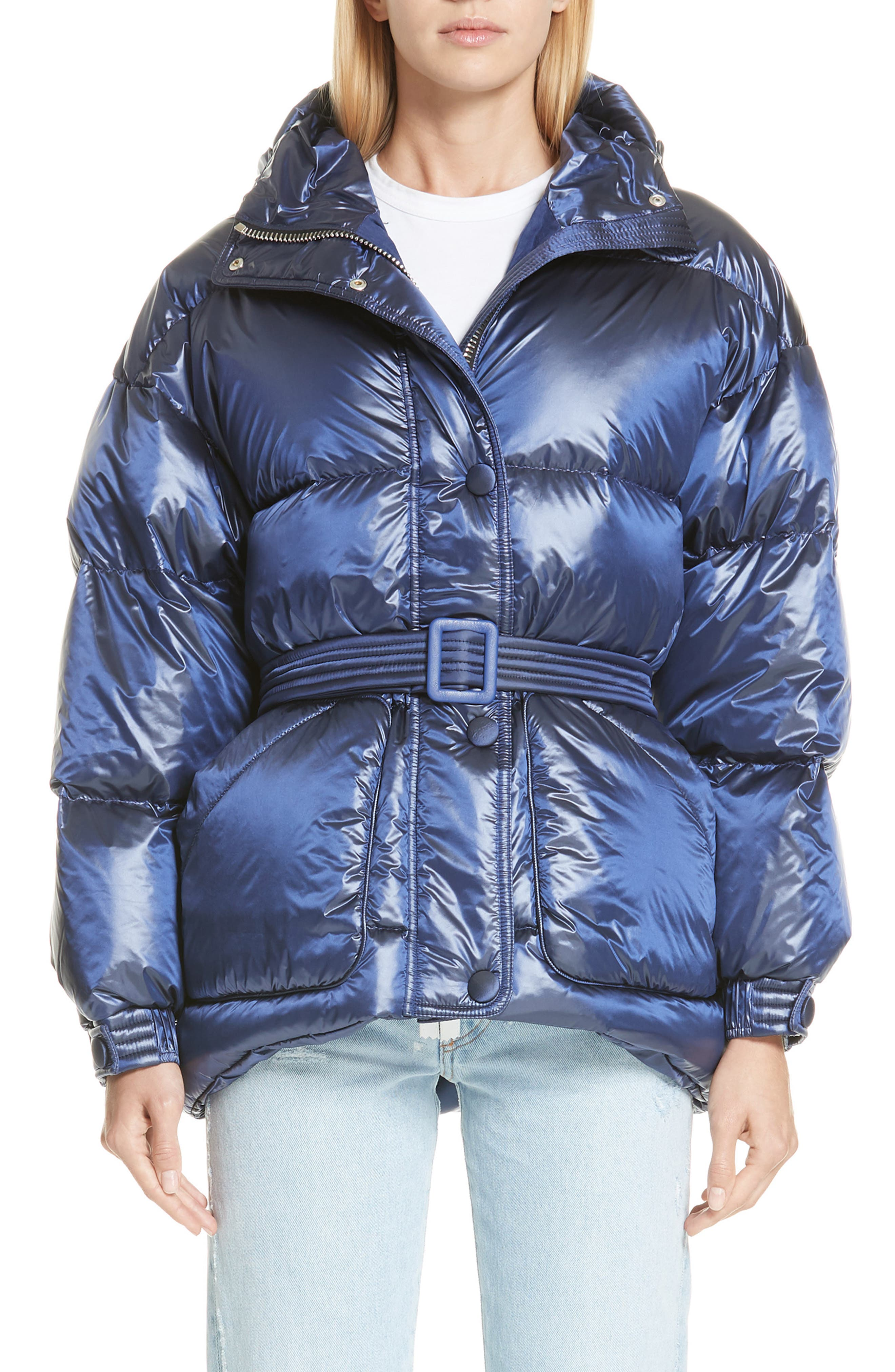 Ienki Ienki Michelin Hooded Down Puffer Coat, Blue
