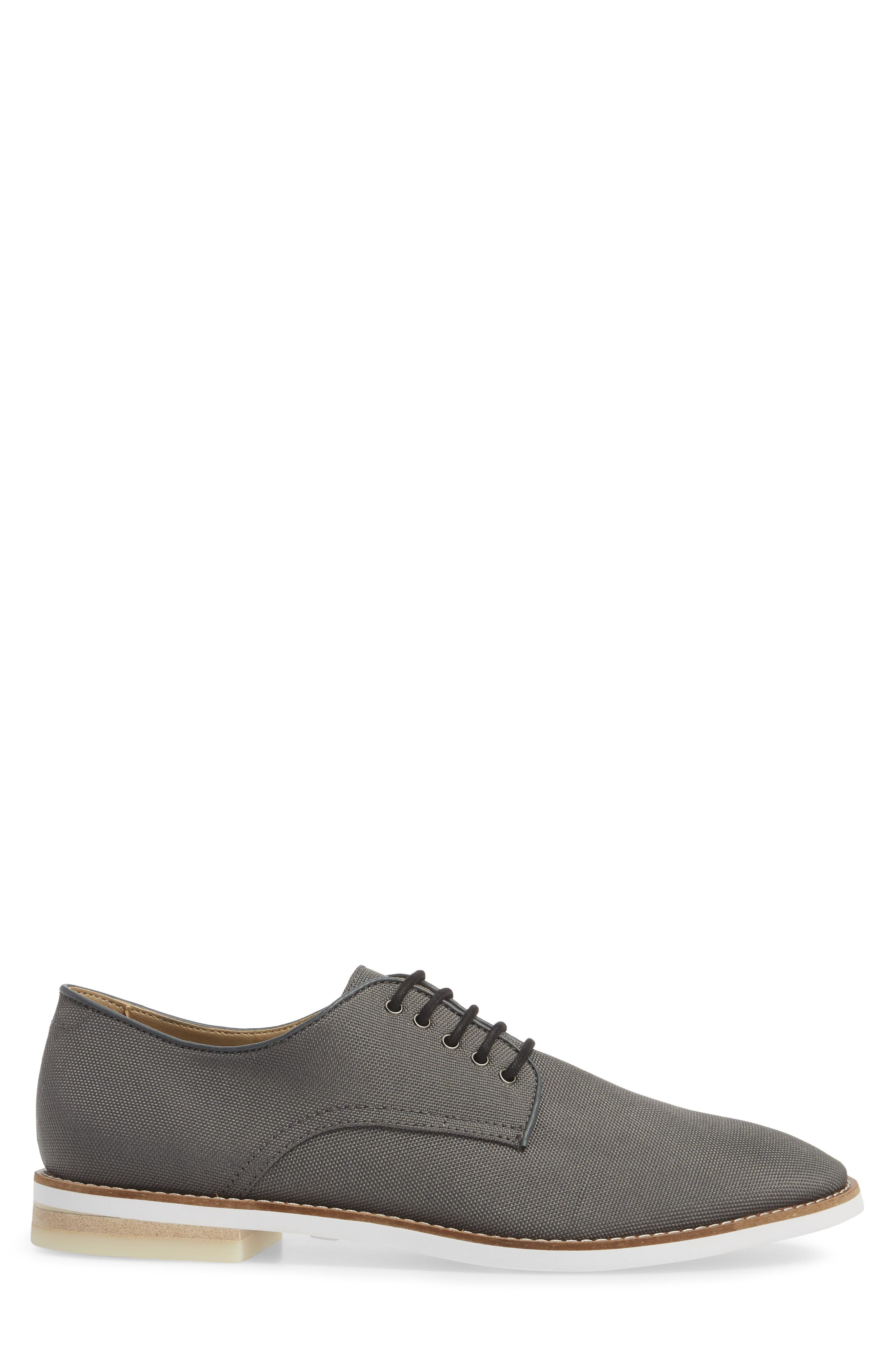 Atlee Plain Toe Derby,                             Alternate thumbnail 3, color,                             GREY SYNTHETIC