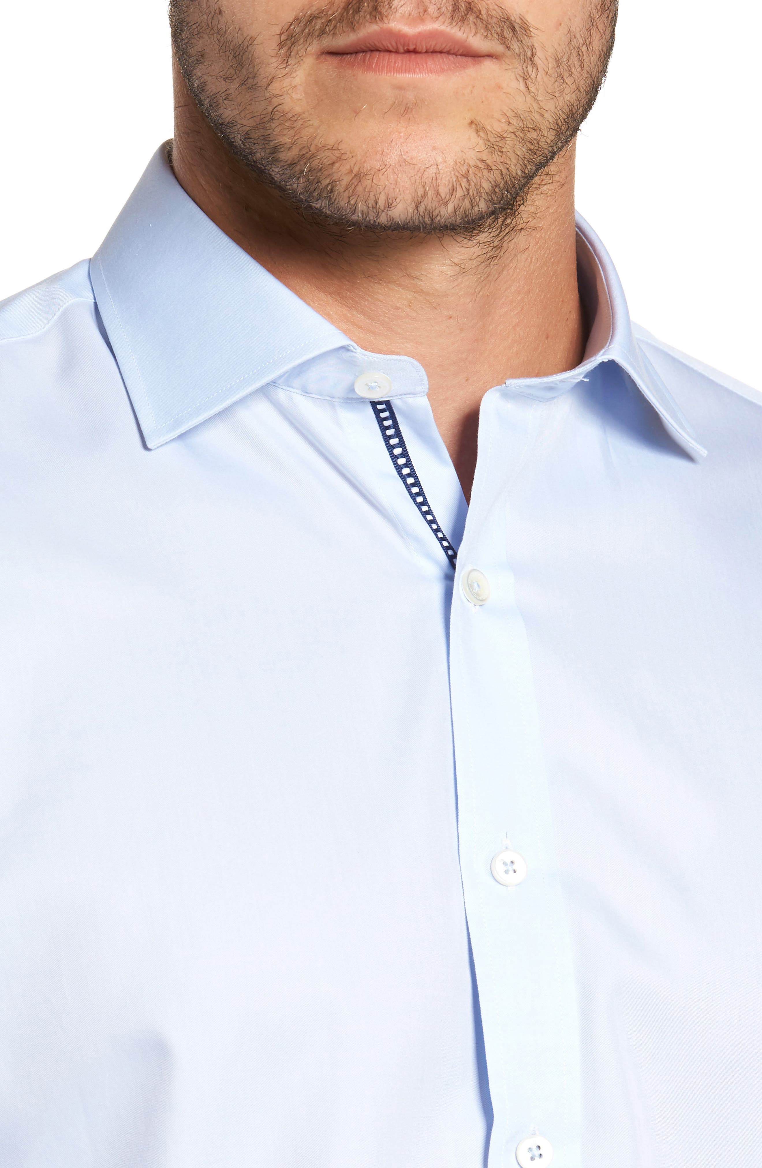 Classic Fit Sport Shirt,                             Alternate thumbnail 4, color,                             ICE BLUE