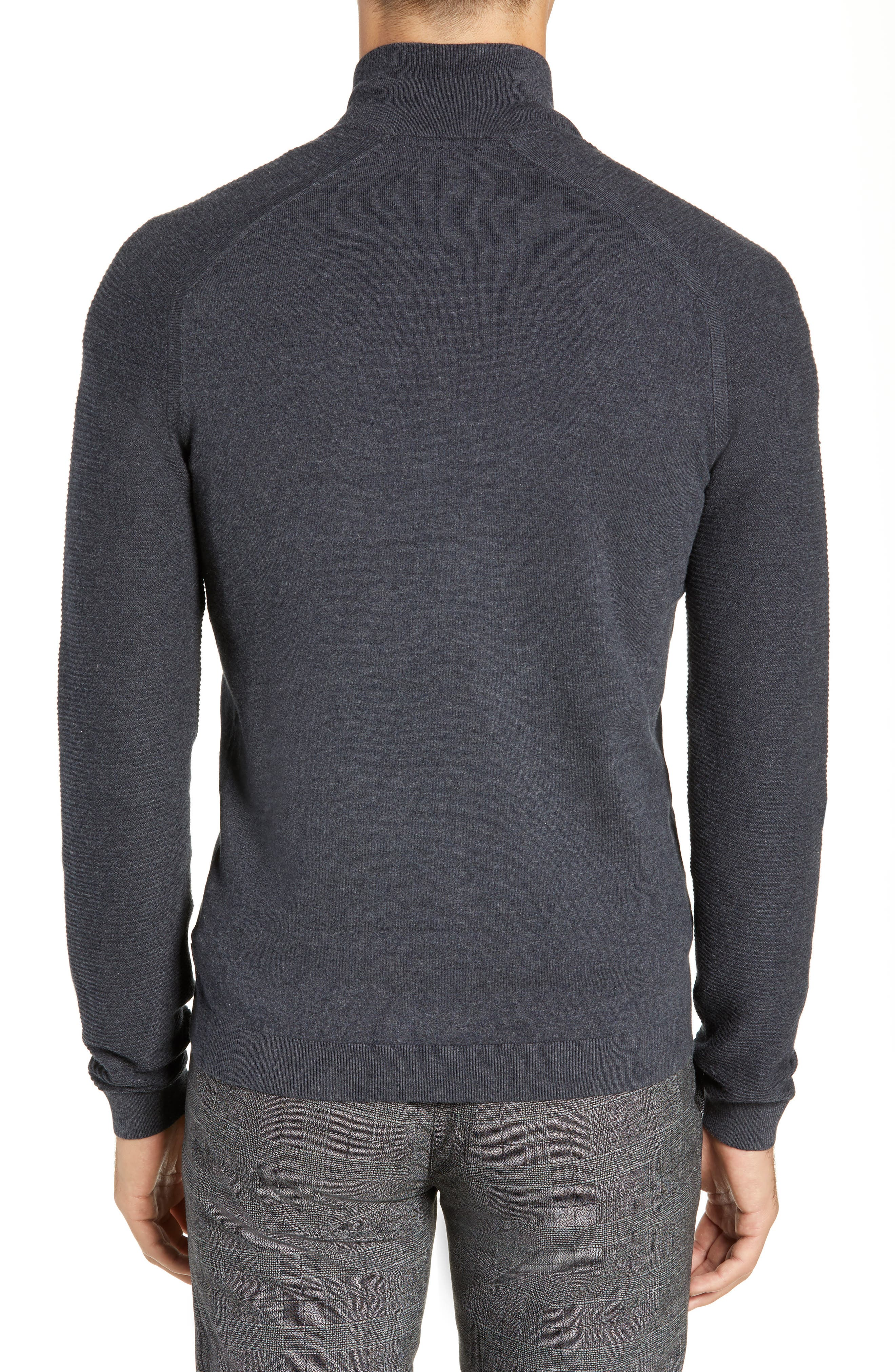 Just Run Trim Fit Funnel Neck Pullover,                             Alternate thumbnail 2, color,                             CHARCOAL
