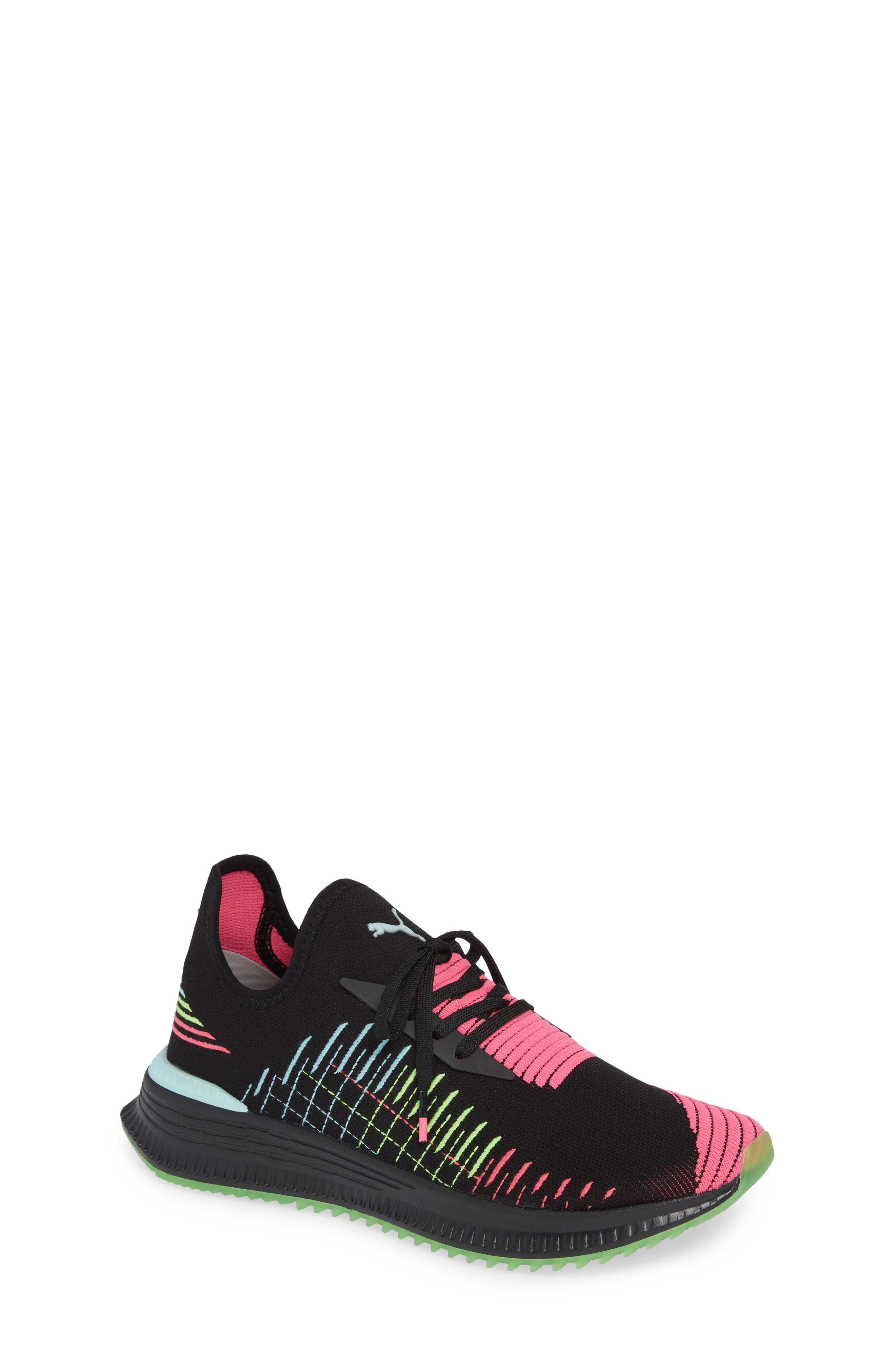 AVID EvoKNIT Sneaker,                             Main thumbnail 1, color,                             BLACK/ PINK/ ISLAND PARADISE