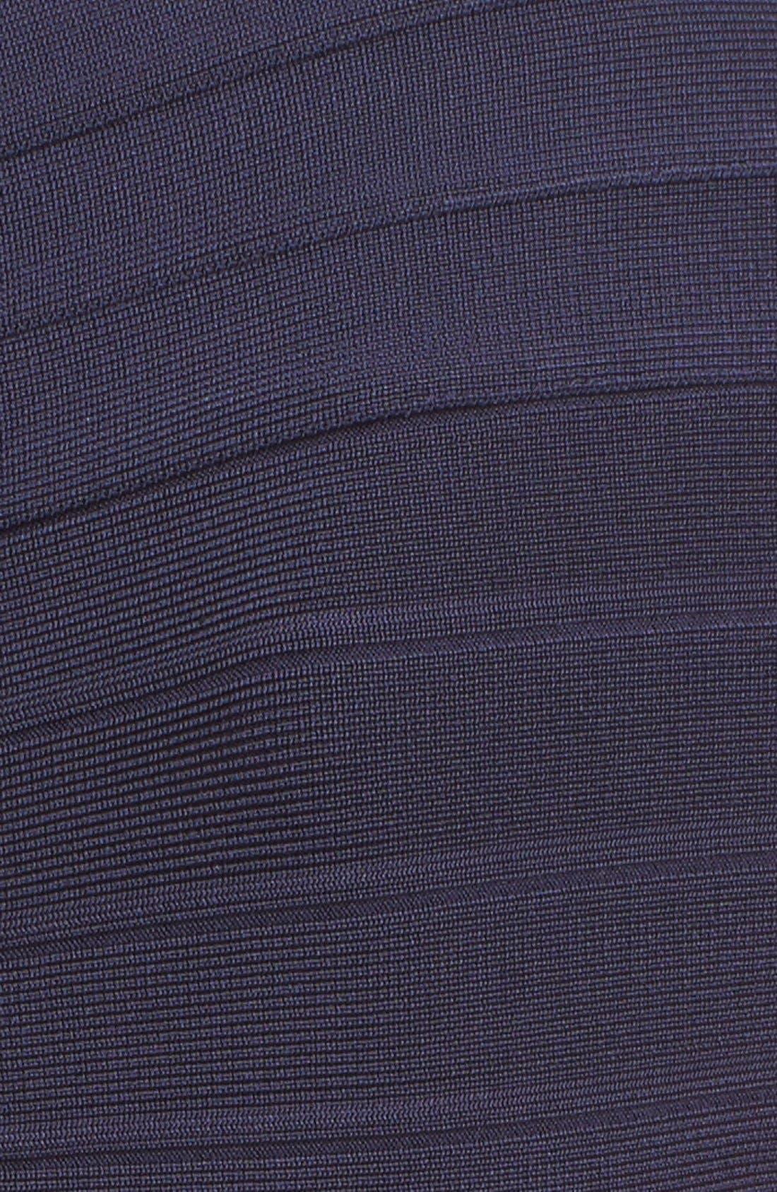 HERVE LEGER,                             'Catarina' Mermaid Bandage Gown,                             Alternate thumbnail 4, color,                             419