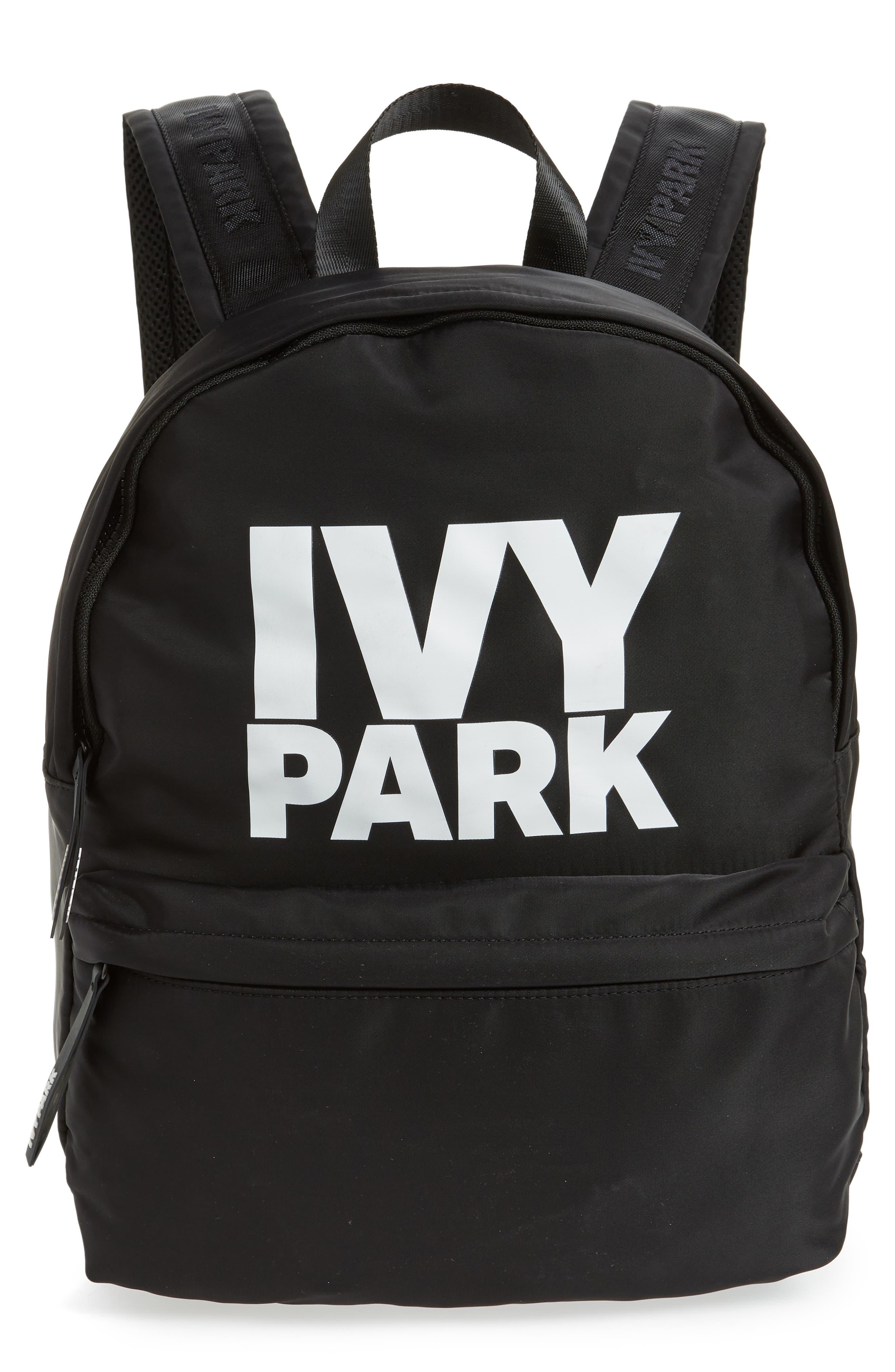 IVY PARK<SUP>®</SUP>,                             Ivy Park Layered Logo Backpack,                             Main thumbnail 1, color,                             001