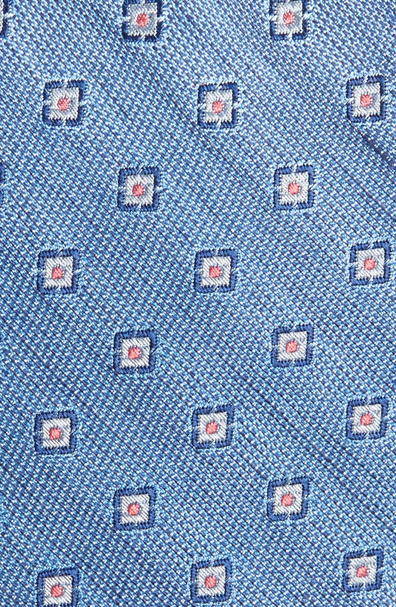 Medallion Scene Silk & Linen Skinny Tie,                             Alternate thumbnail 2, color,                             450