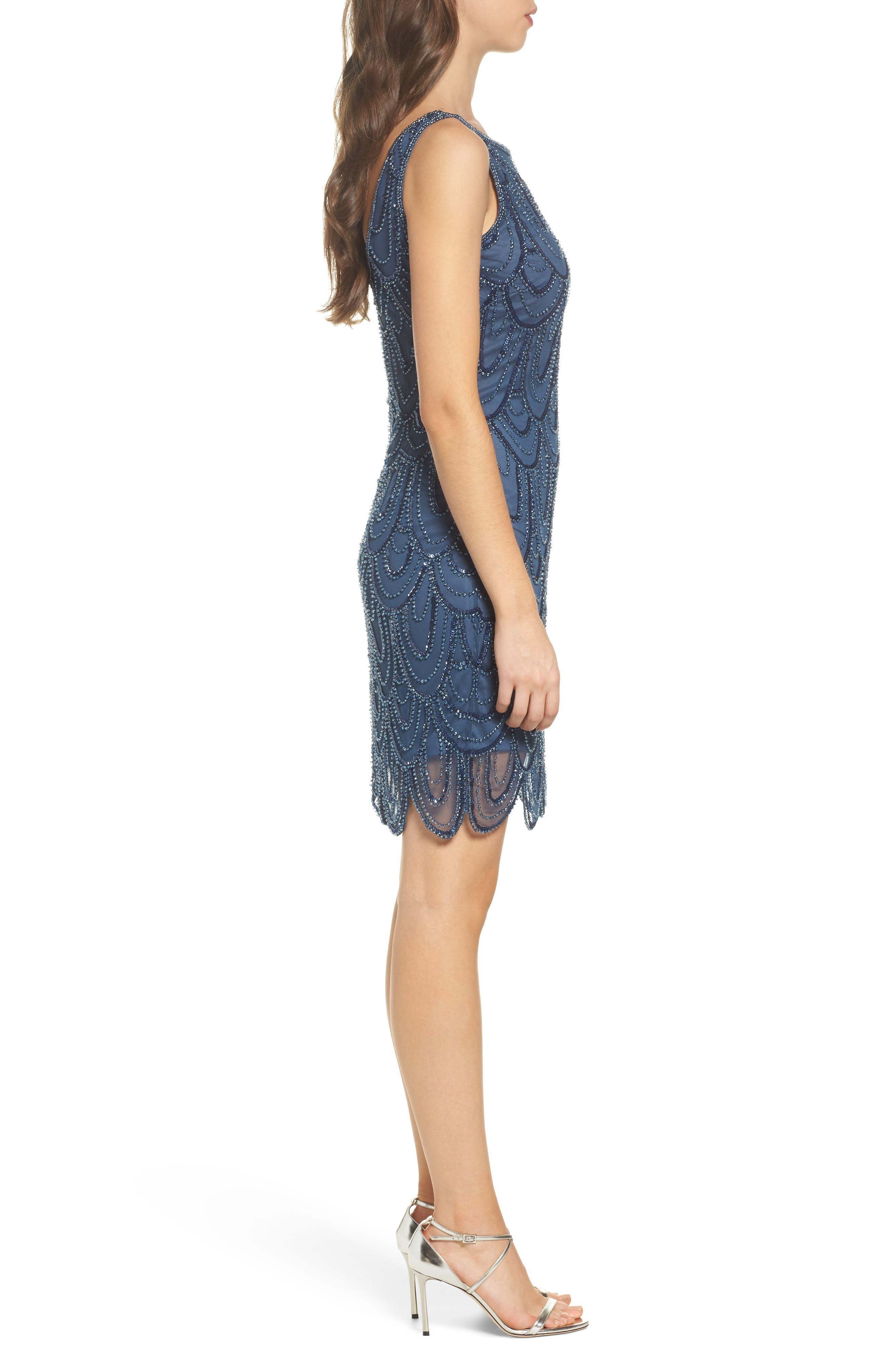 Embellished Mesh Sheath Dress,                             Alternate thumbnail 43, color,
