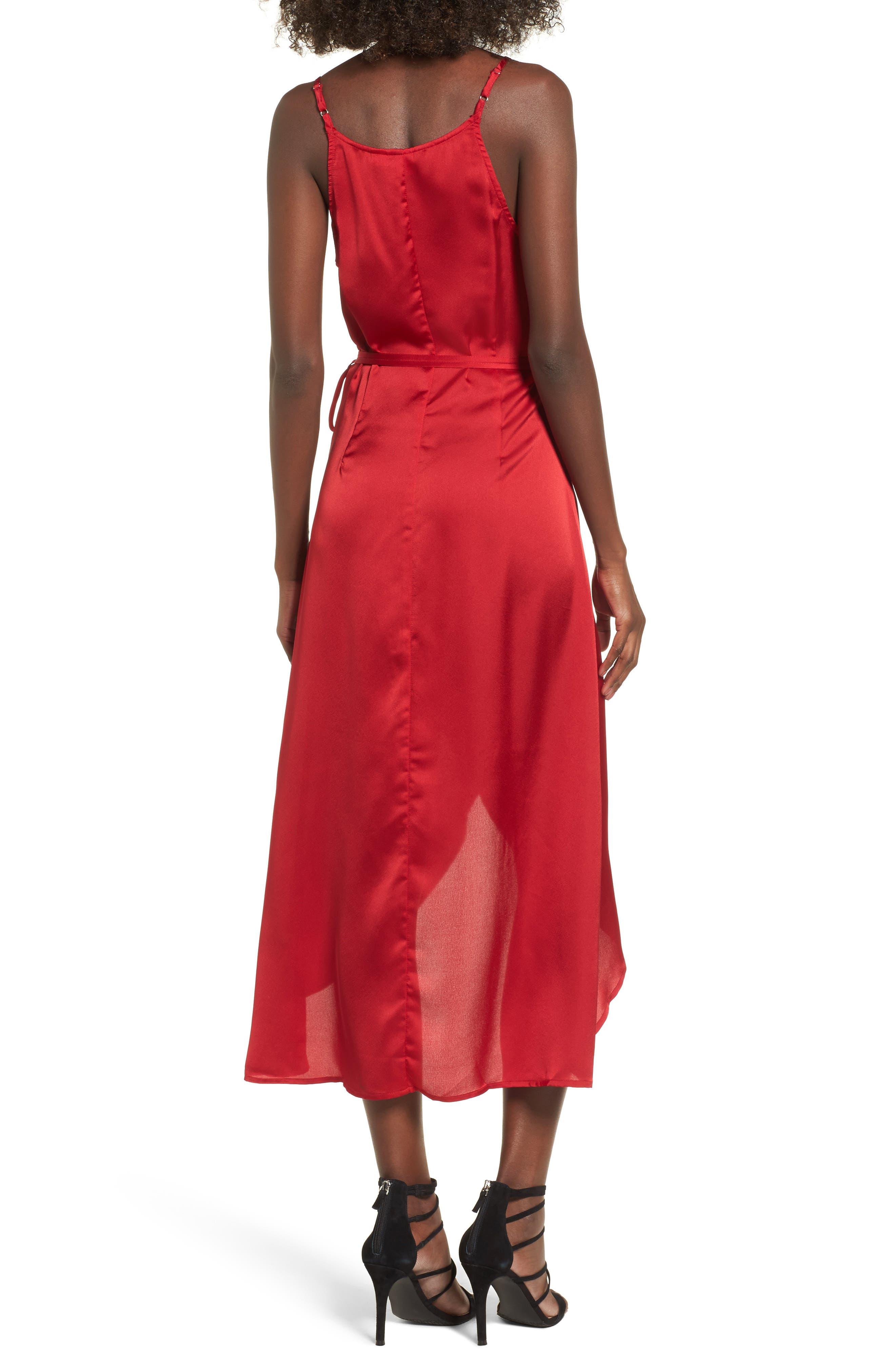 Evening Sun Satin Wrap Dress,                             Alternate thumbnail 2, color,                             600
