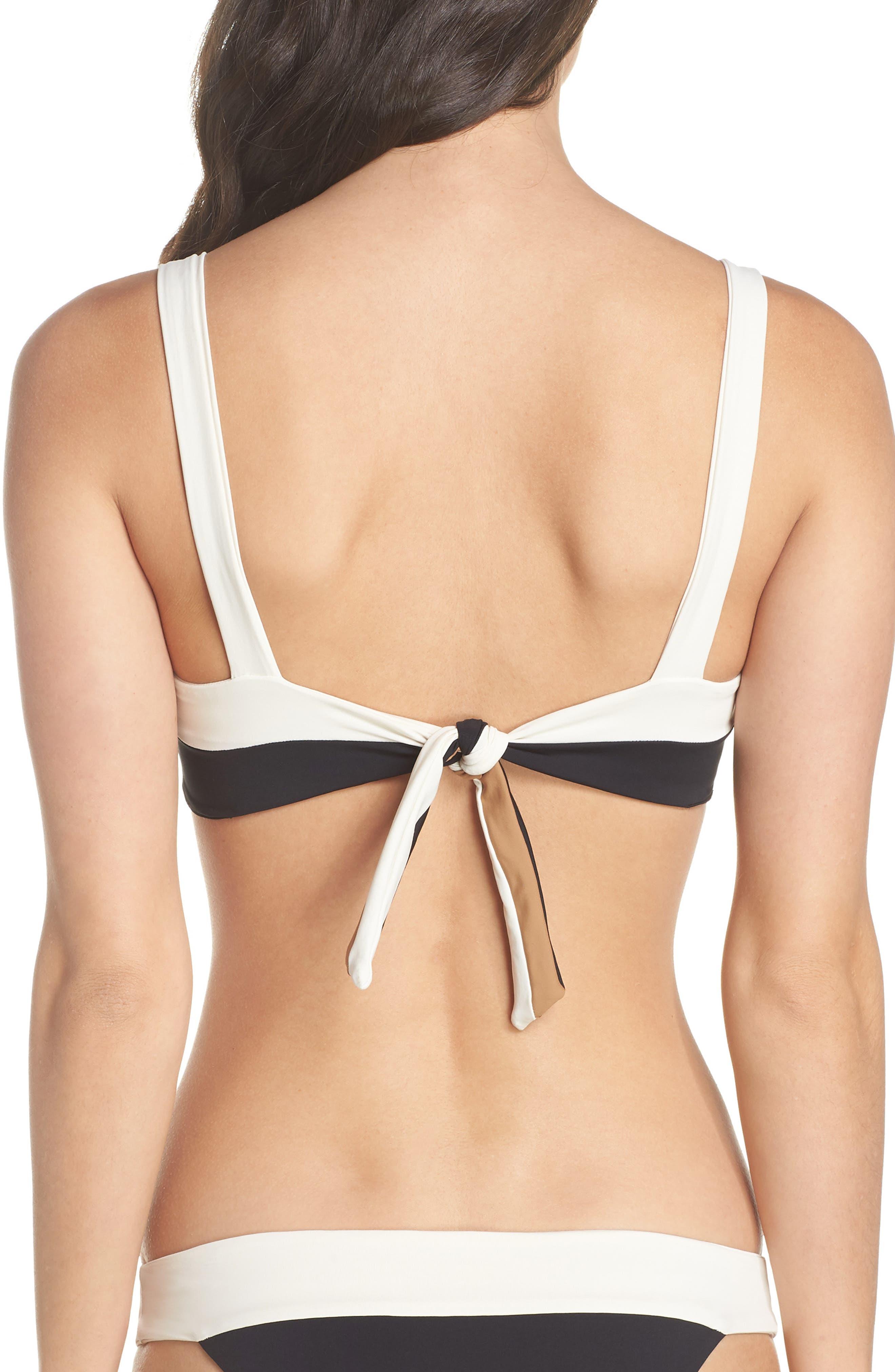 Turlington Reversible Bikini Top,                             Alternate thumbnail 2, color,                             CREAM/ BLACK/ CAMEL