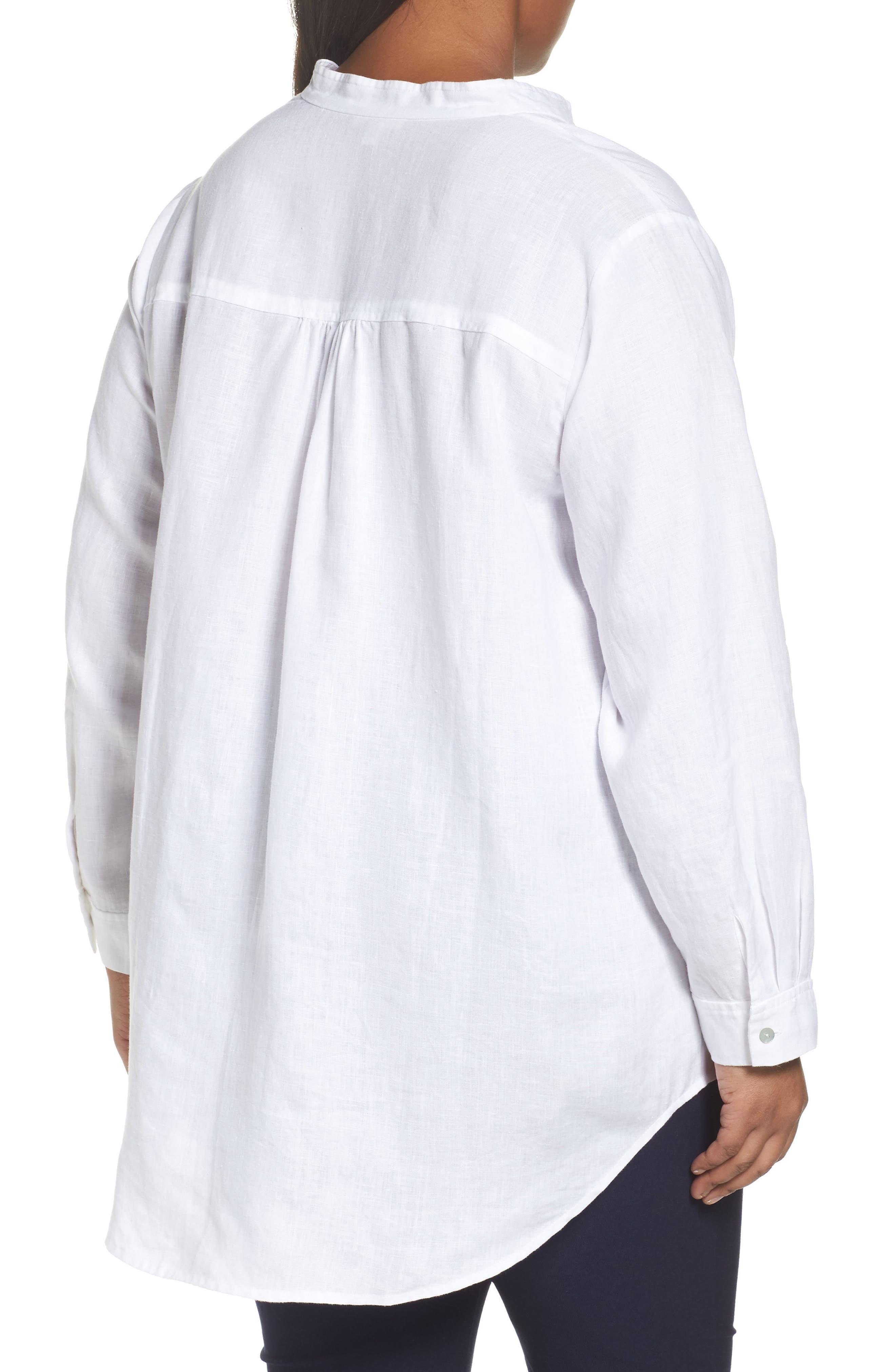 Organic Linen Tunic Shirt,                             Alternate thumbnail 4, color,