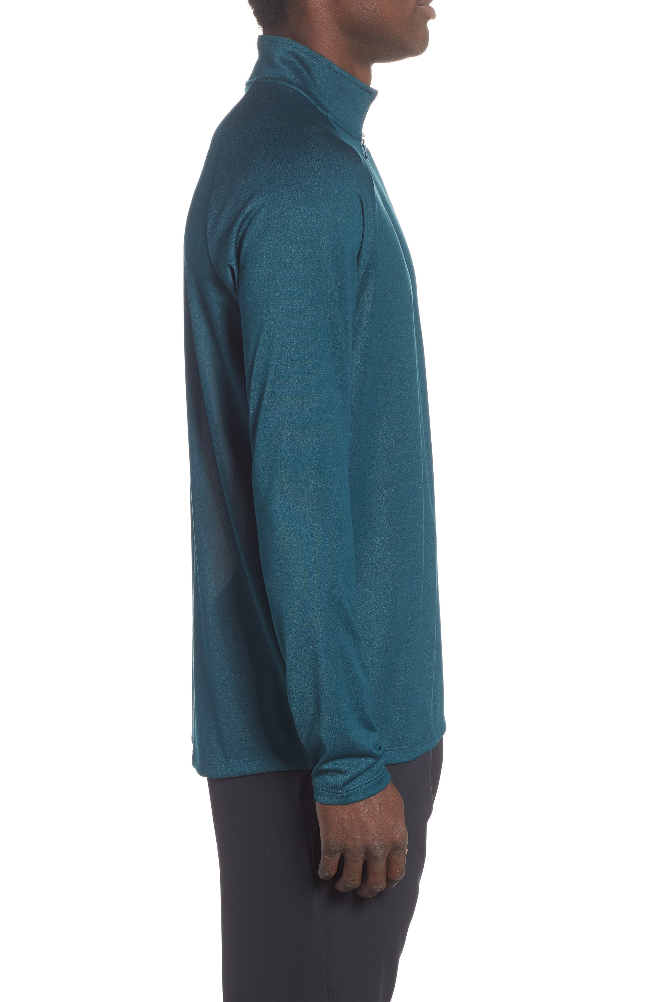 Tech Half Zip Sweatshirt,                             Alternate thumbnail 3, color,                             TEAL