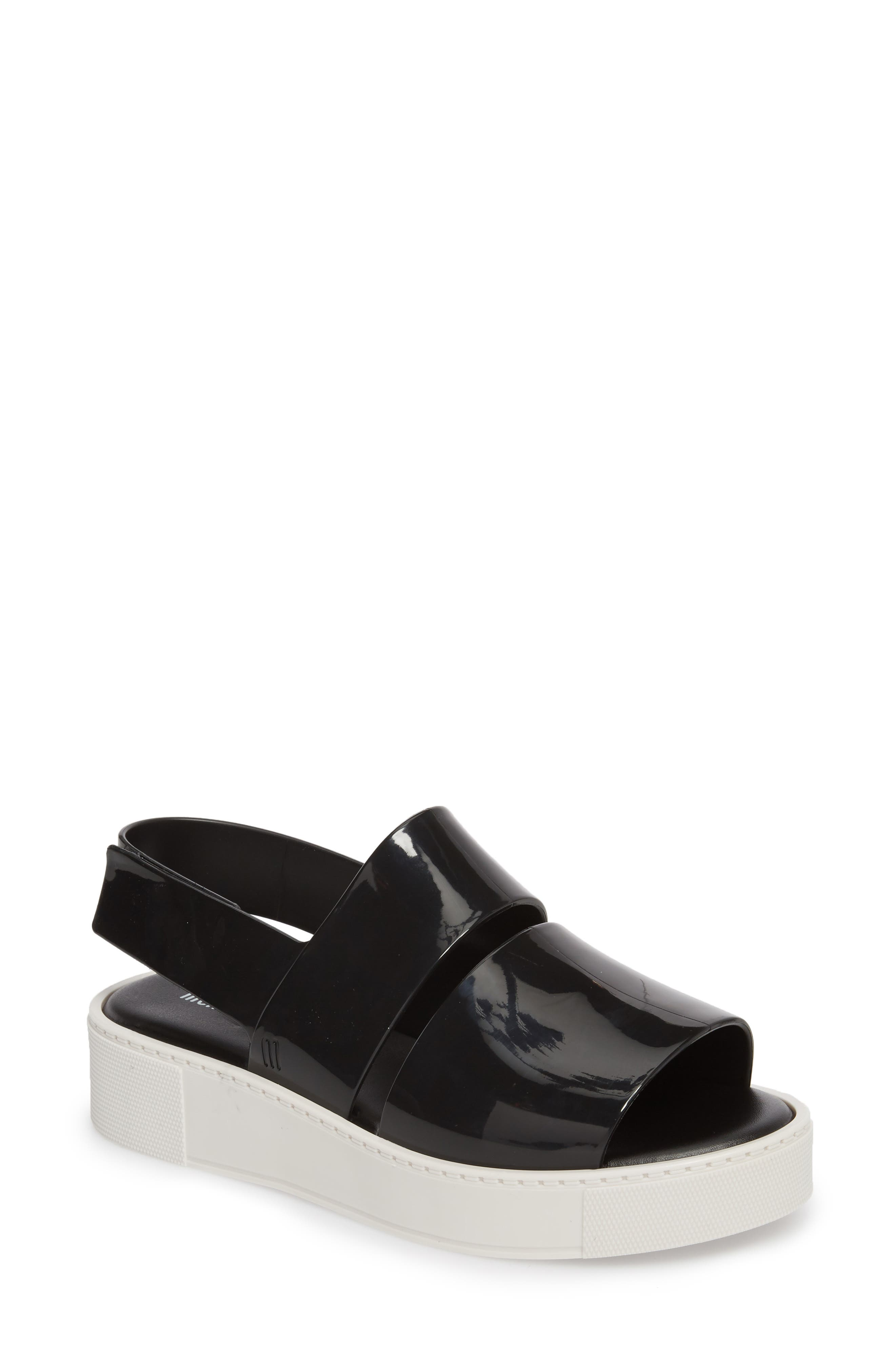 Soho Platform Sandal,                             Main thumbnail 1, color,                             001