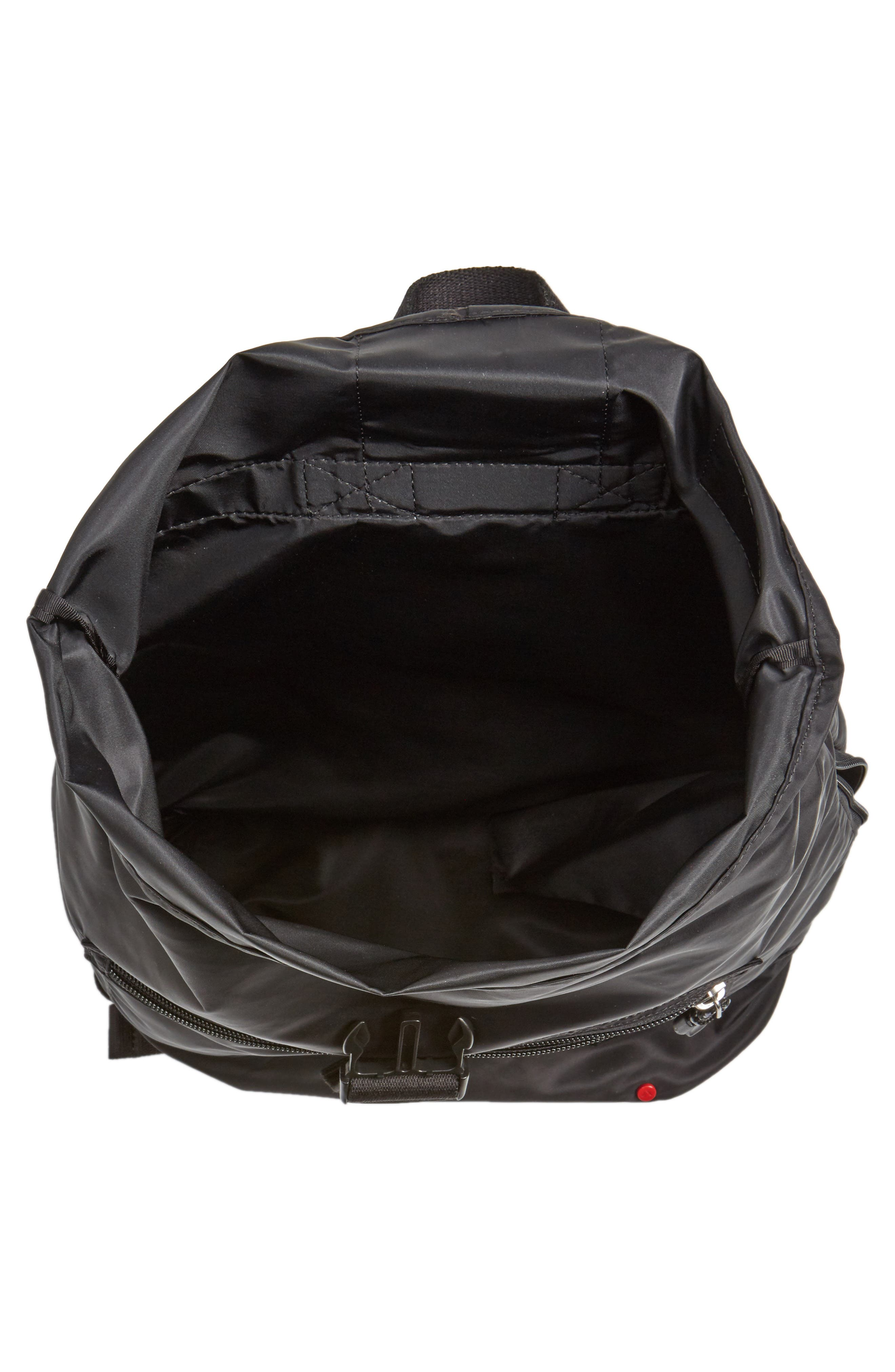 Bond Heights Packable Nylon Backpack,                             Alternate thumbnail 4, color,                             001
