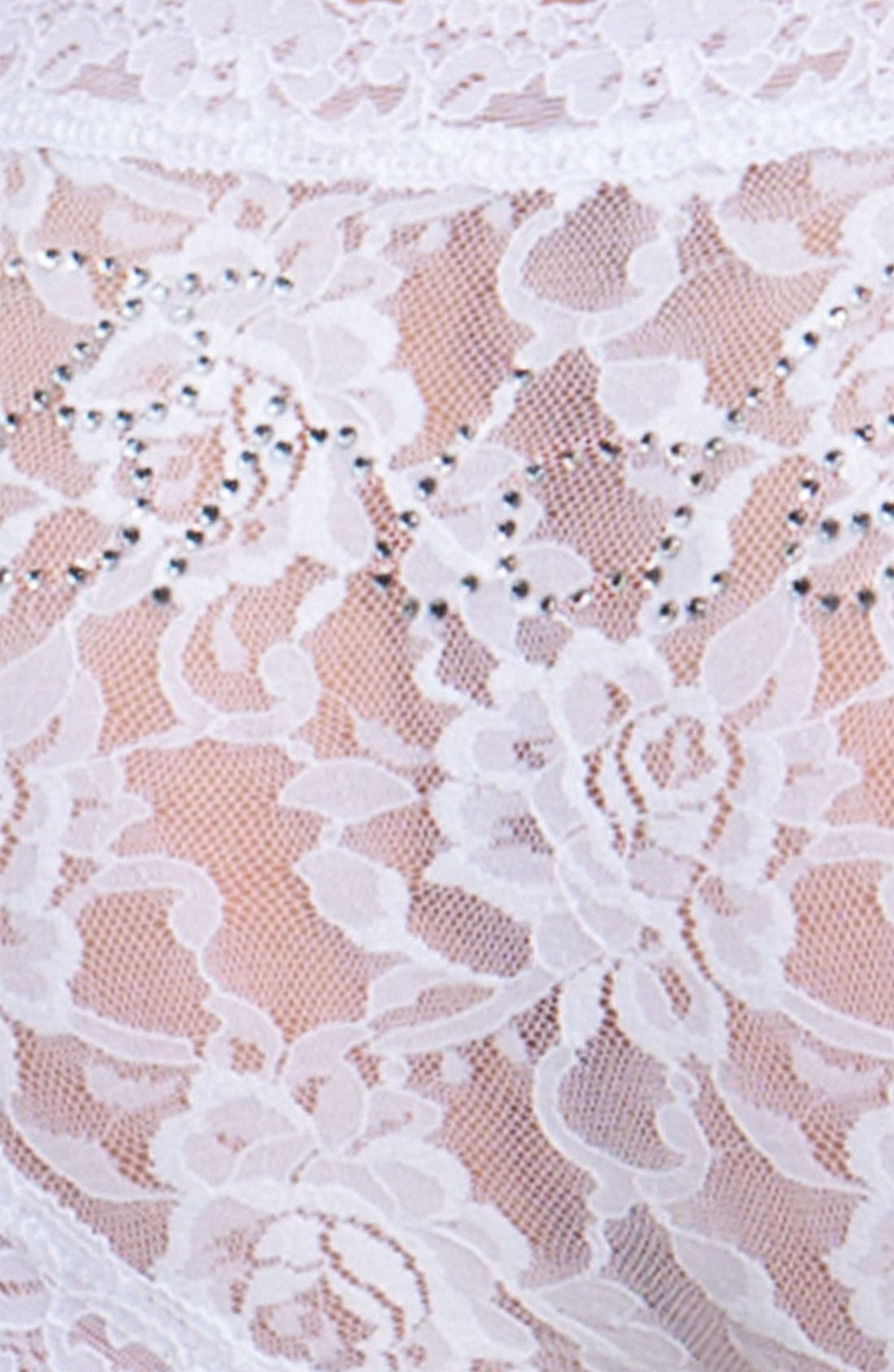 'Bride' Lace Hipster Panties,                             Alternate thumbnail 4, color,                             WHITE