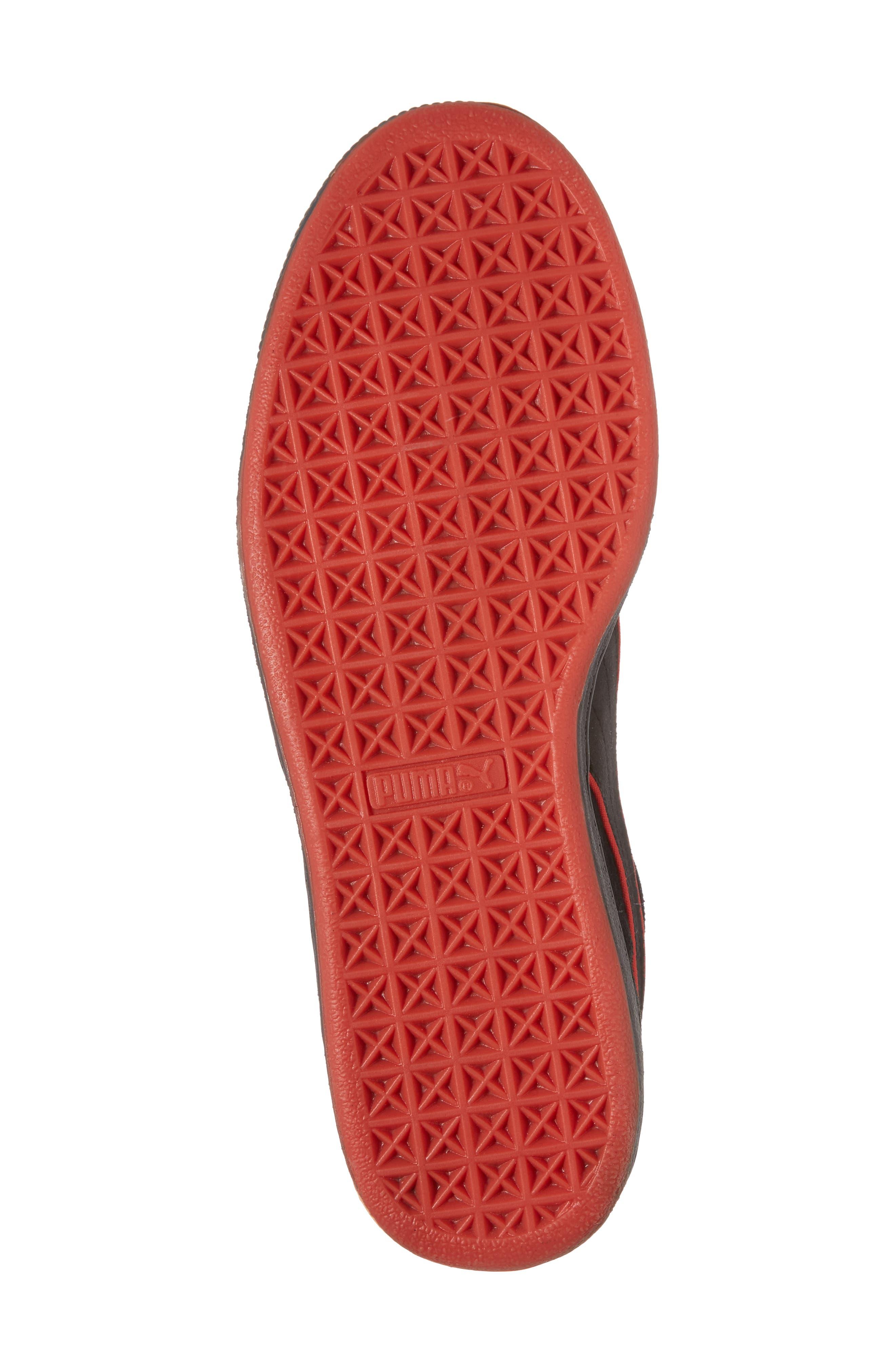 x FUBU Suede Classic Sneaker,                             Alternate thumbnail 6, color,                             001