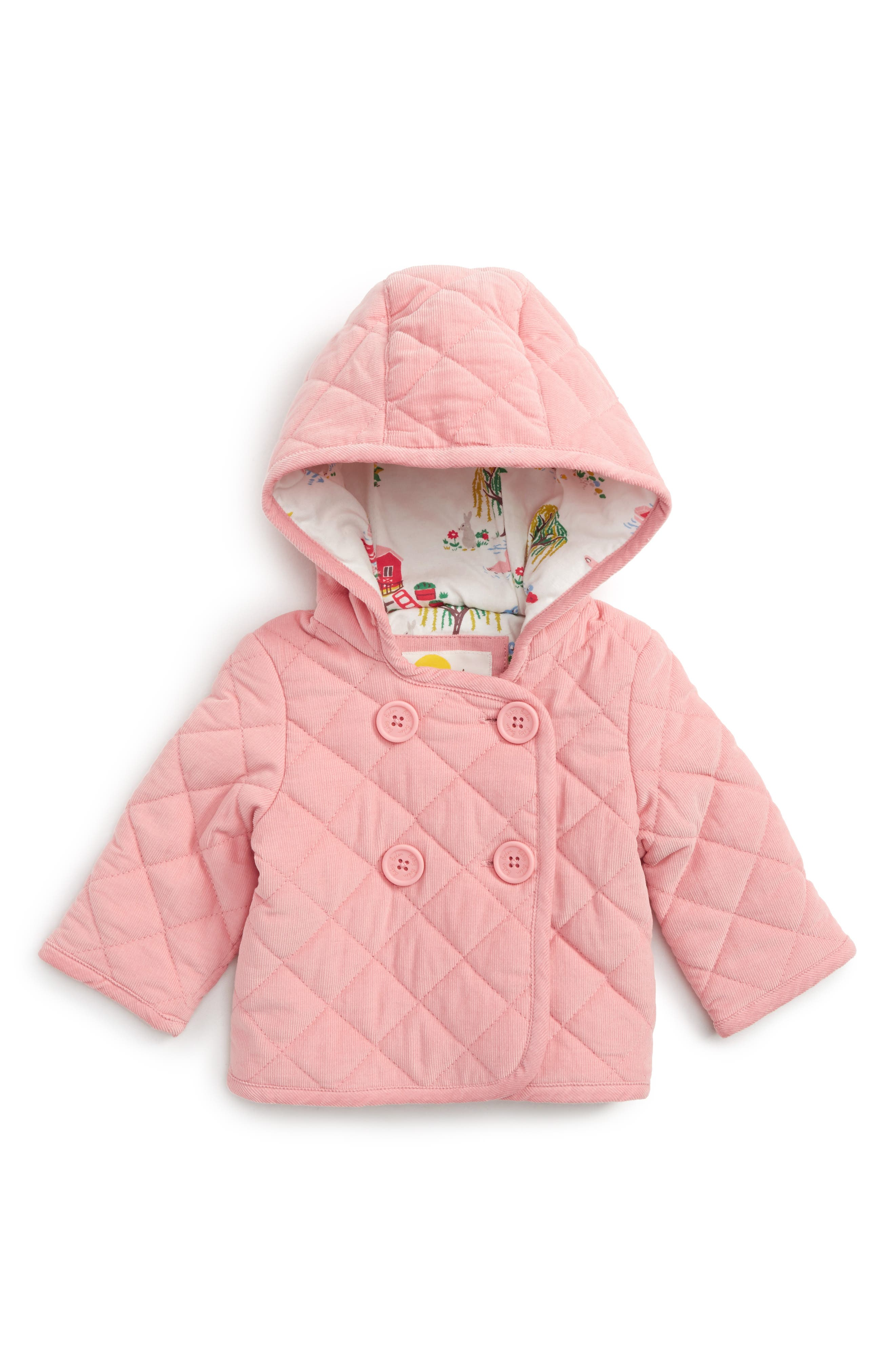 Pretty Quilted Corduroy Hooded Jacket,                             Main thumbnail 2, color,