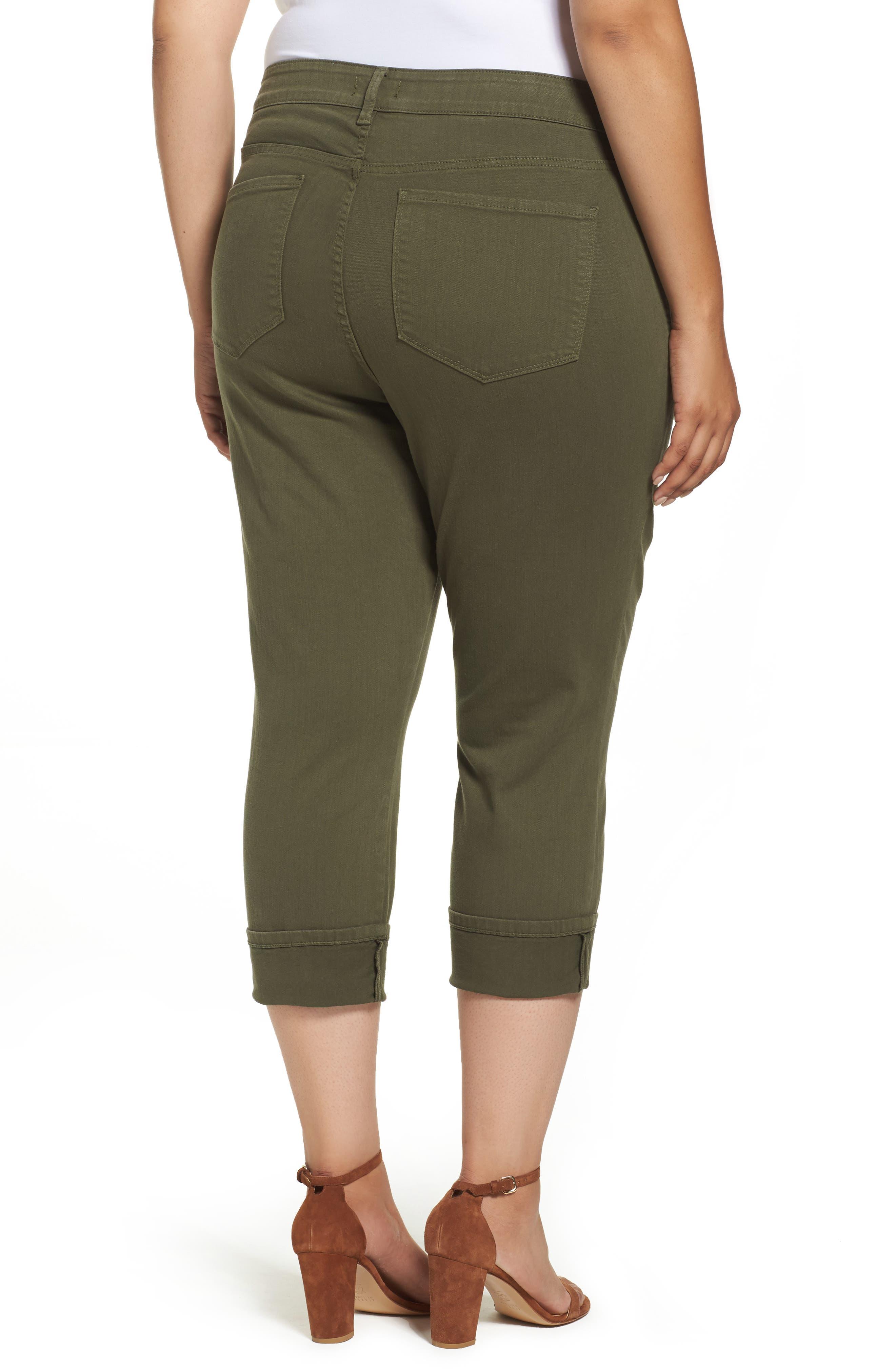 Dayla Colored Wide Cuff Capri Jeans,                             Alternate thumbnail 4, color,