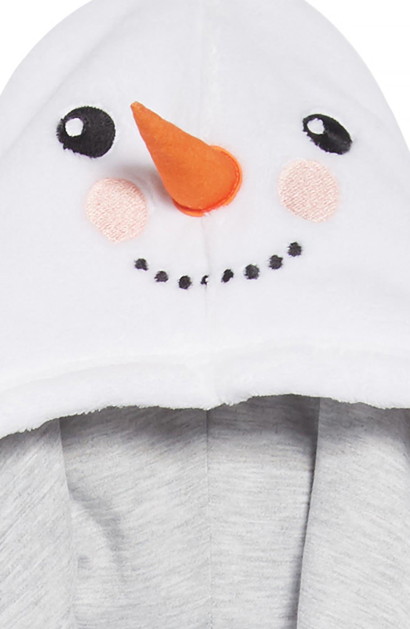 Hooded Robe,                             Alternate thumbnail 2, color,                             WHITE SNOWMAN