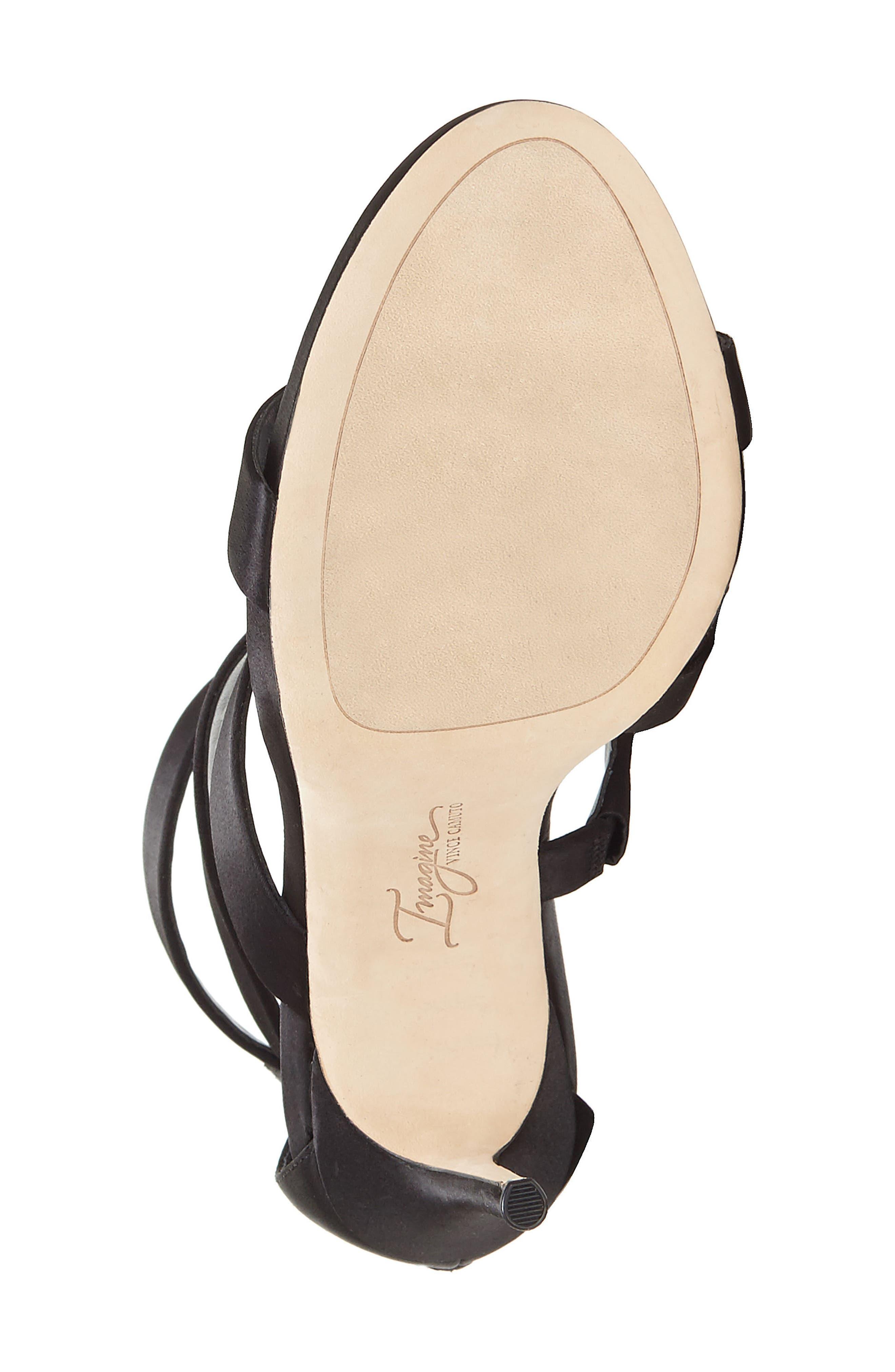 Imagine Vince Camuto Dalles Tall Strappy Sandal,                             Alternate thumbnail 6, color,                             BLACK SATIN