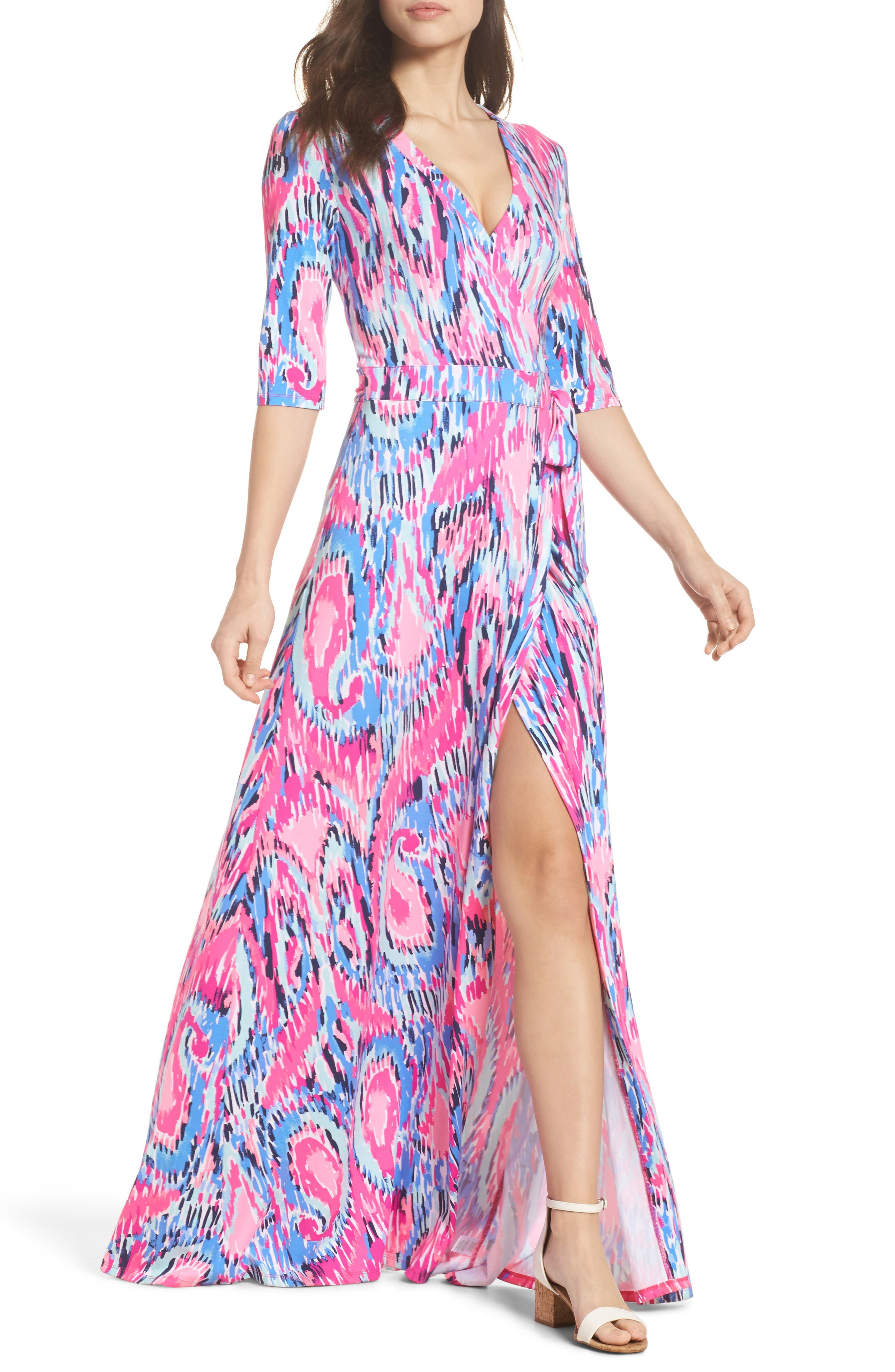 Marvista Wrap Maxi Dress,                             Alternate thumbnail 5, color,                             650