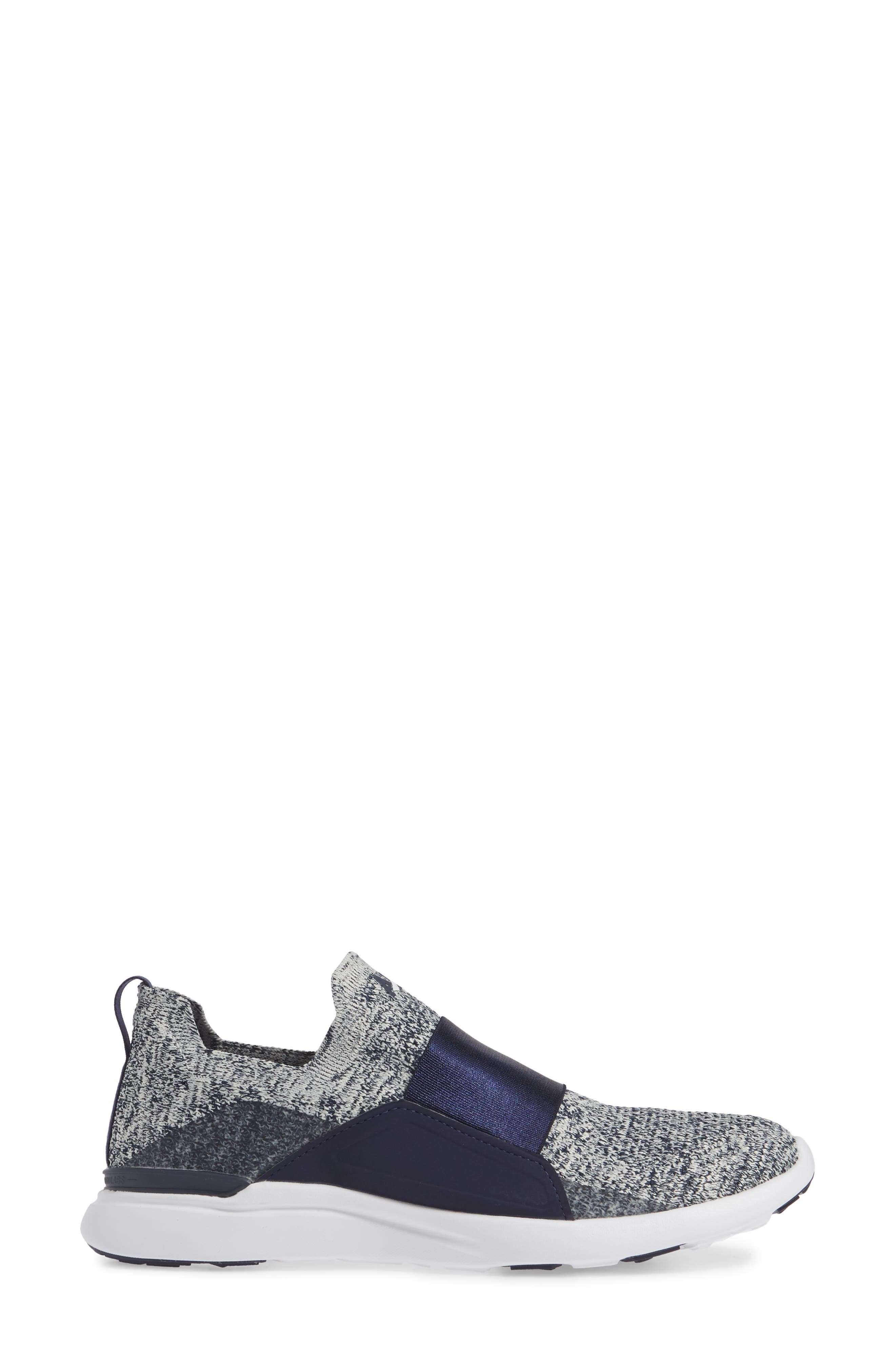 APL,                             Techloom Bliss Knit Running Shoe,                             Alternate thumbnail 3, color,                             NAVY/ PRISTINE/ WHITE
