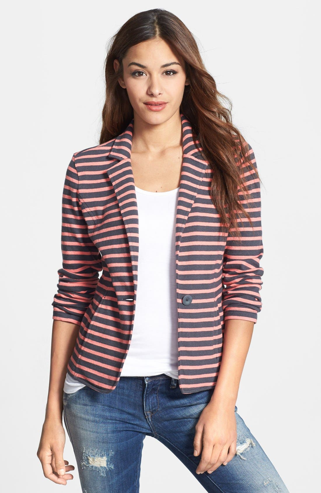 Cotton Knit Jacket,                             Main thumbnail 4, color,