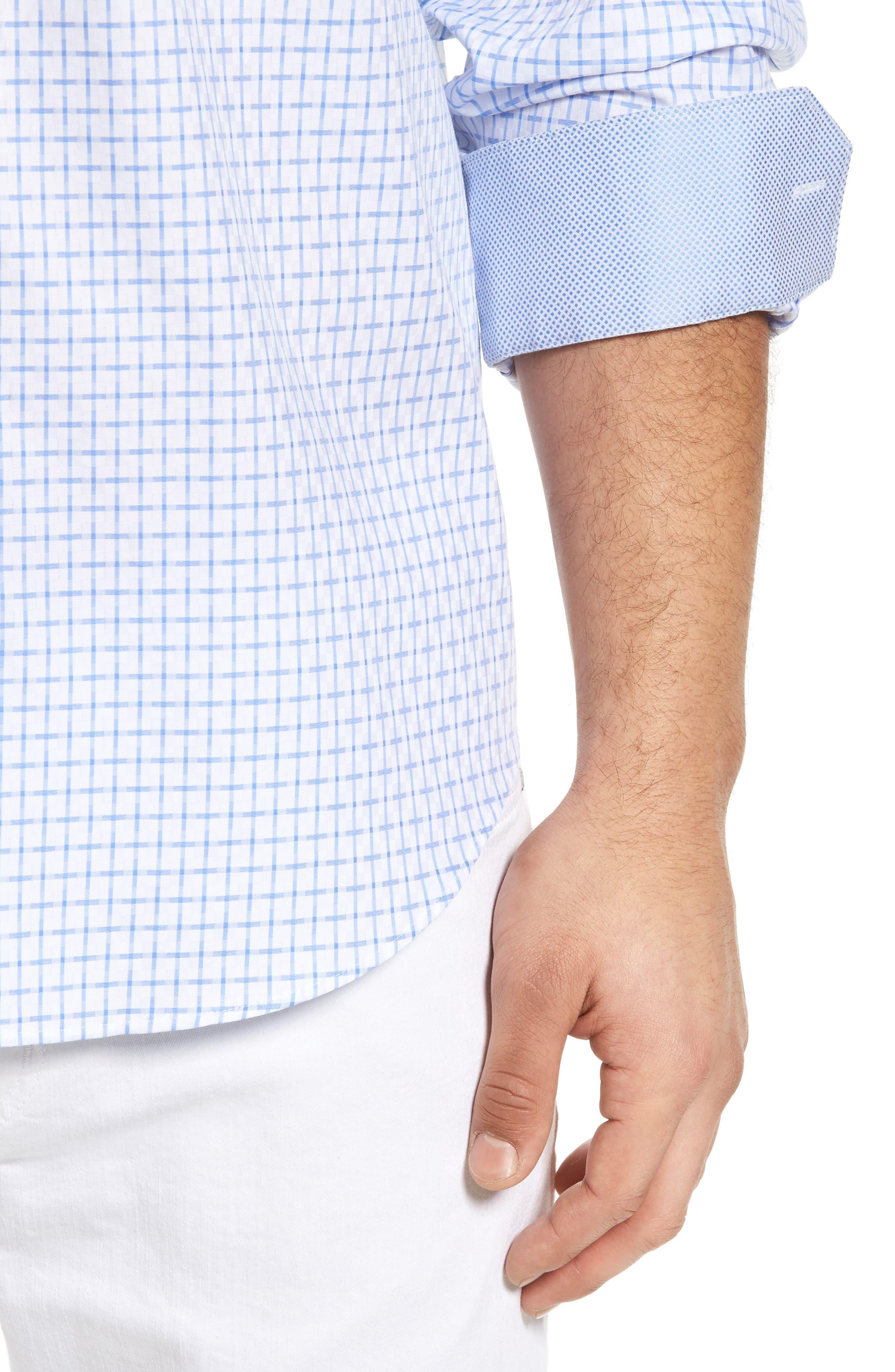 Shaped Fit Sport Shirt,                             Alternate thumbnail 7, color,