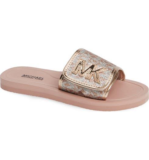 99fb40ebf2e6 MICHAEL Michael Kors Eli Seneca Glitter Slide Sandal (Toddler ...