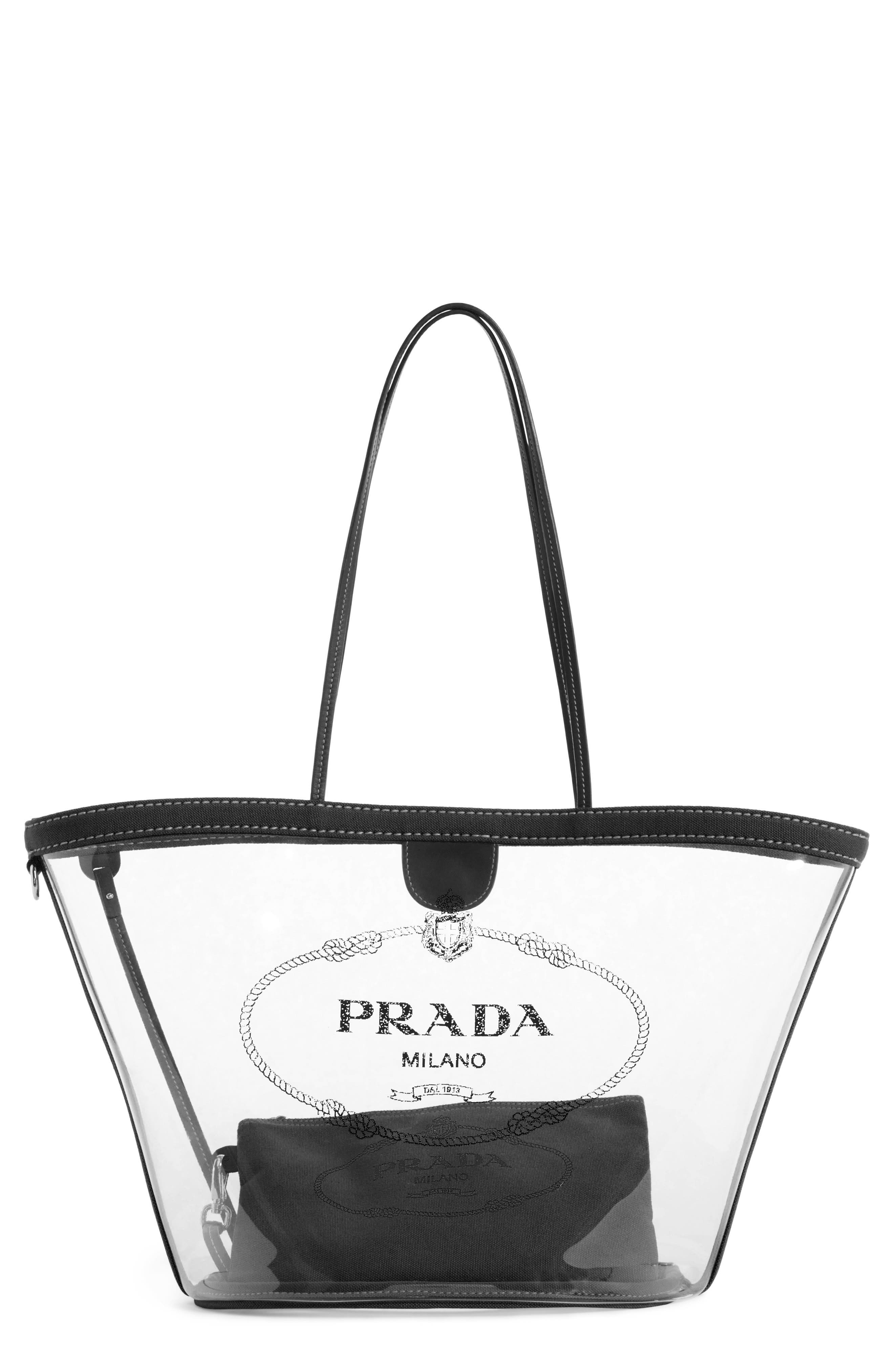 PRADA Small Plex Shopper, Main, color, 001