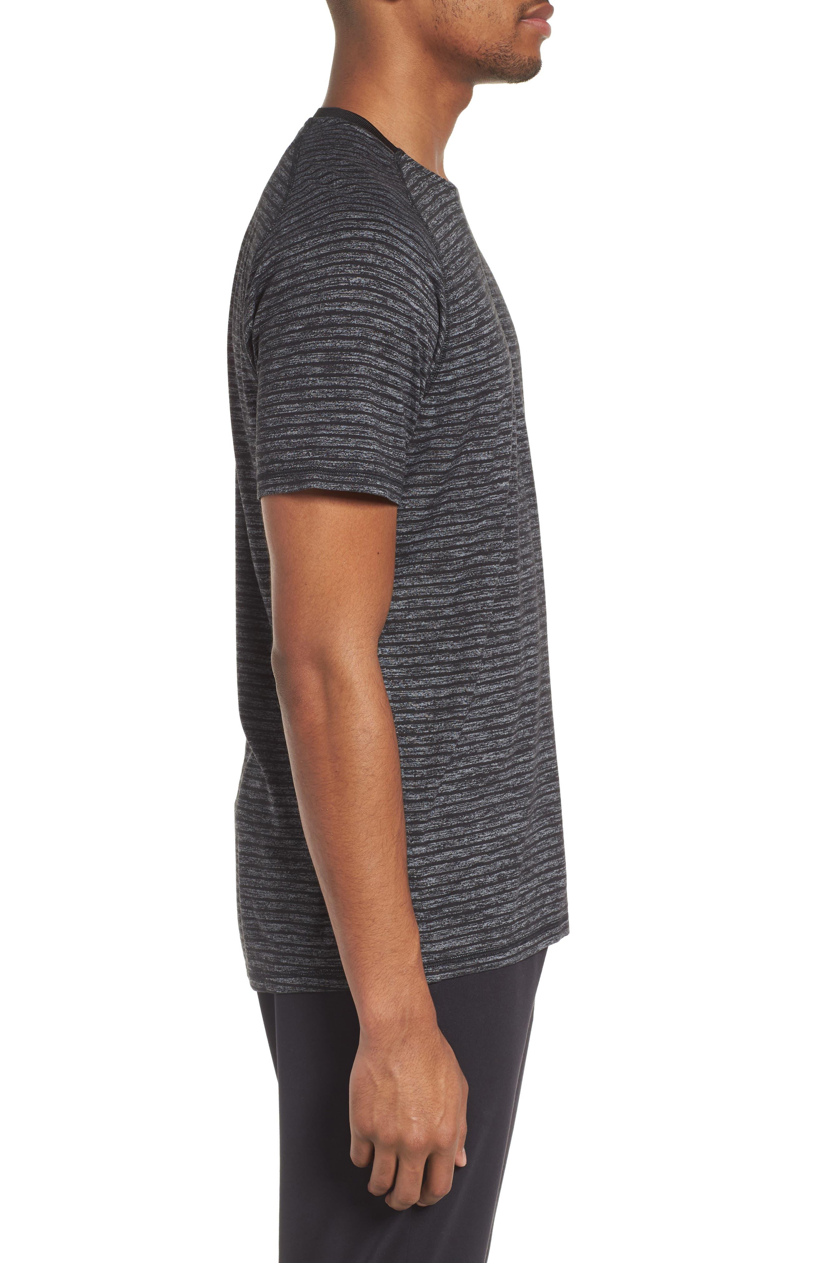 Stripe Crewneck T-Shirt,                             Alternate thumbnail 3, color,                             030
