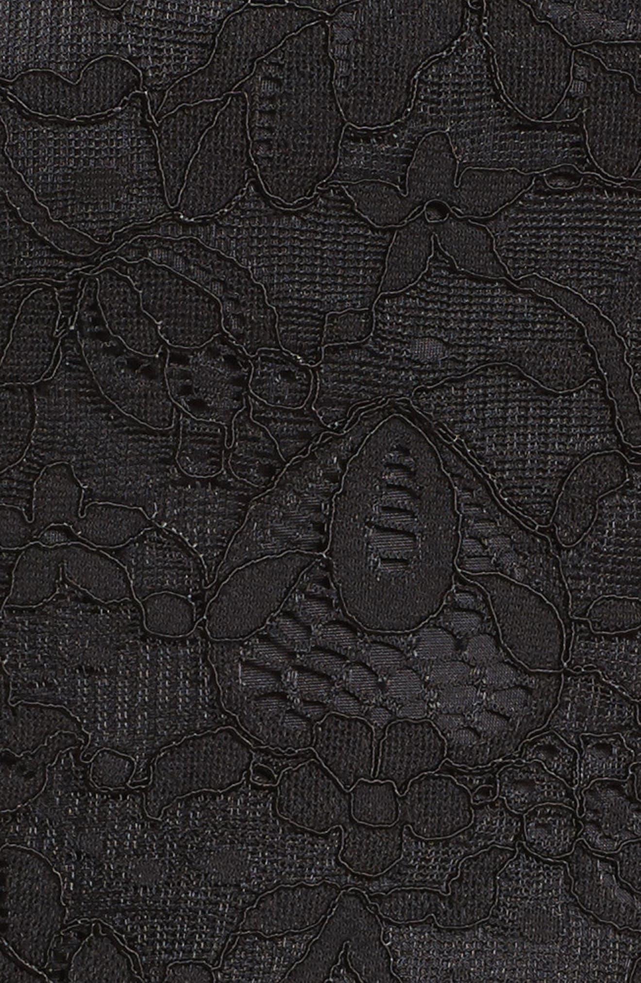 Billie Bell Sleeve Lace Dress,                             Alternate thumbnail 5, color,                             001