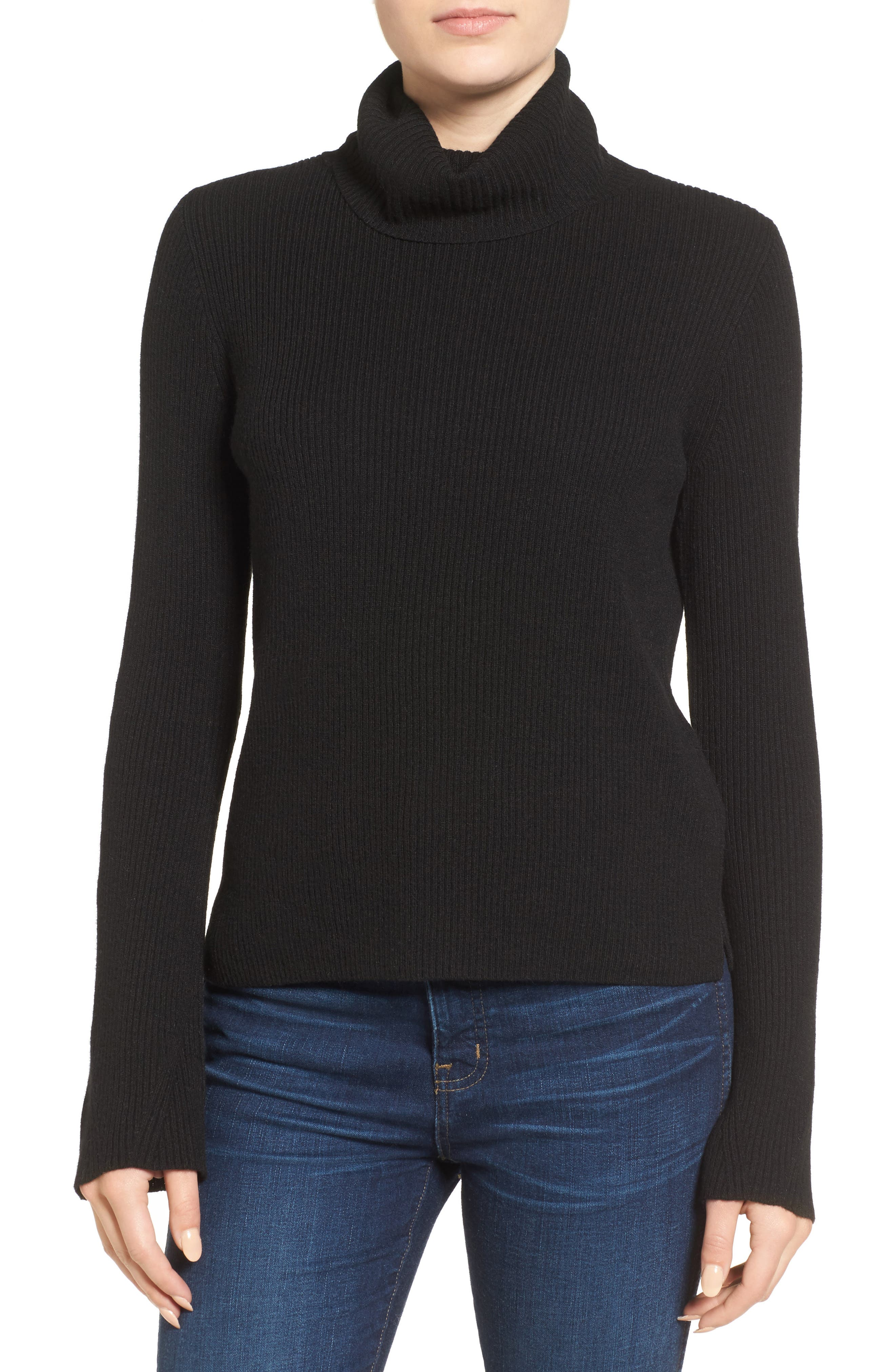 MADEWELL Turtleneck Sweater, Main, color, 001