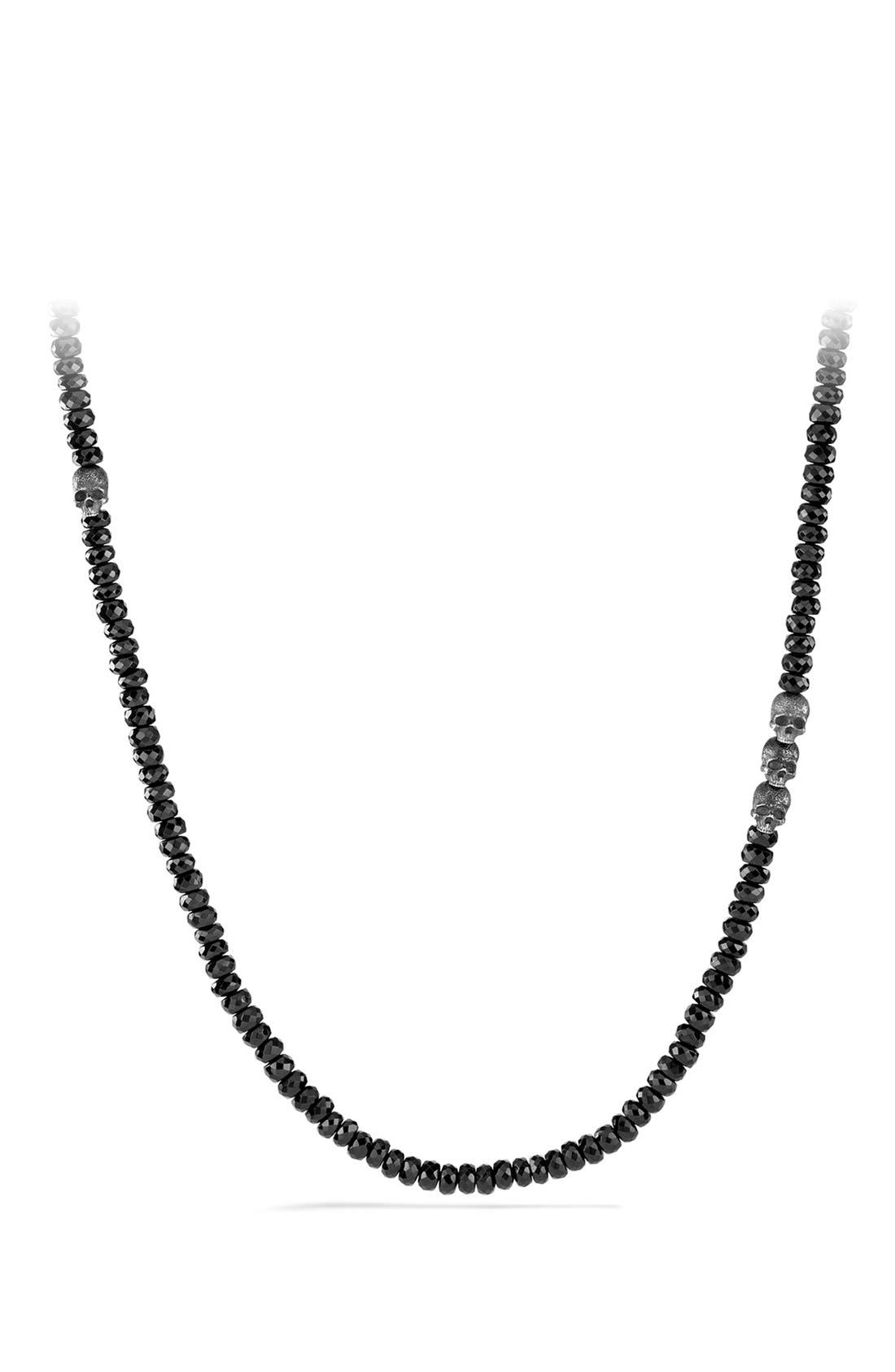 'Skull' Necklace in Silver, Main, color, 005