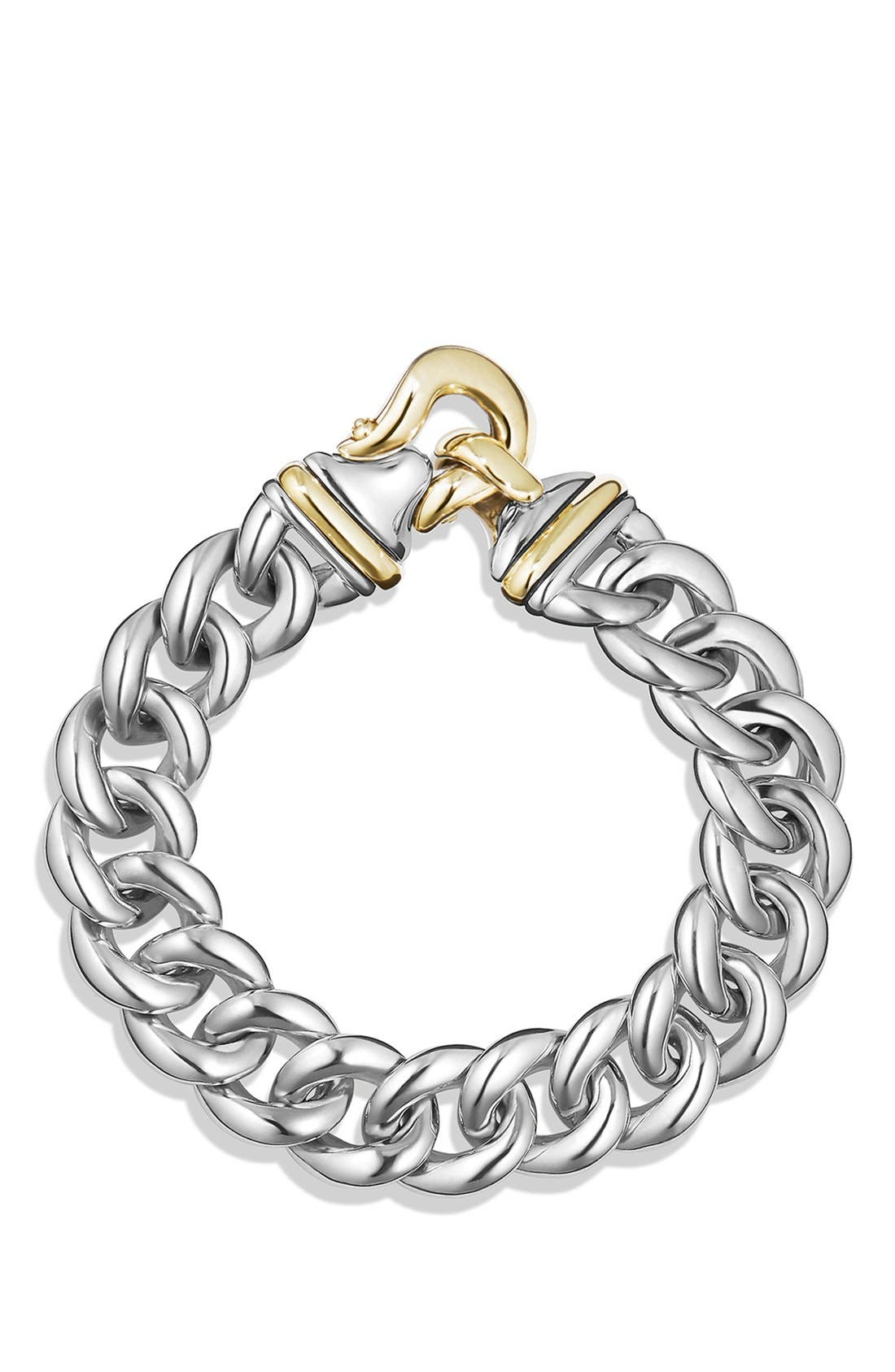 'Cable Buckle' Buckle Single-Row Bracelet with Gold,                             Alternate thumbnail 2, color,                             041