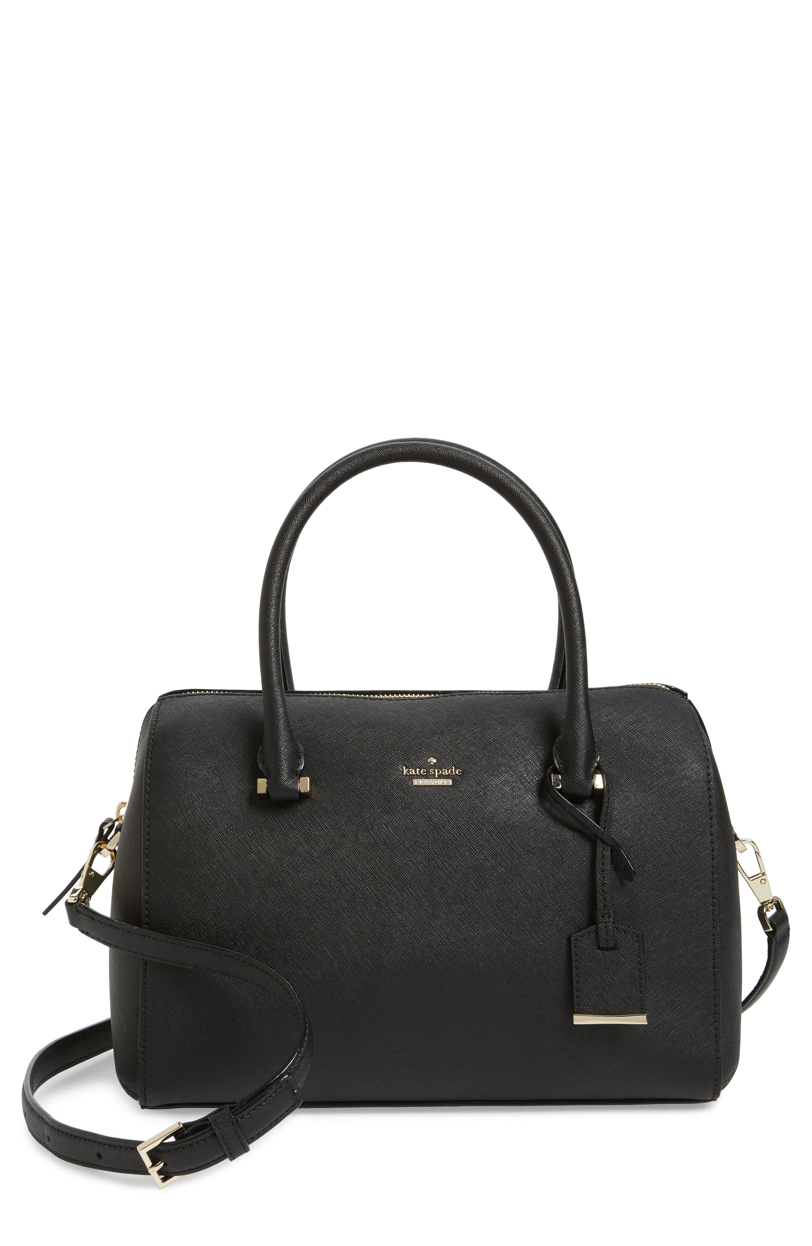 mega cameron street - lane leather satchel,                         Main,                         color, 001