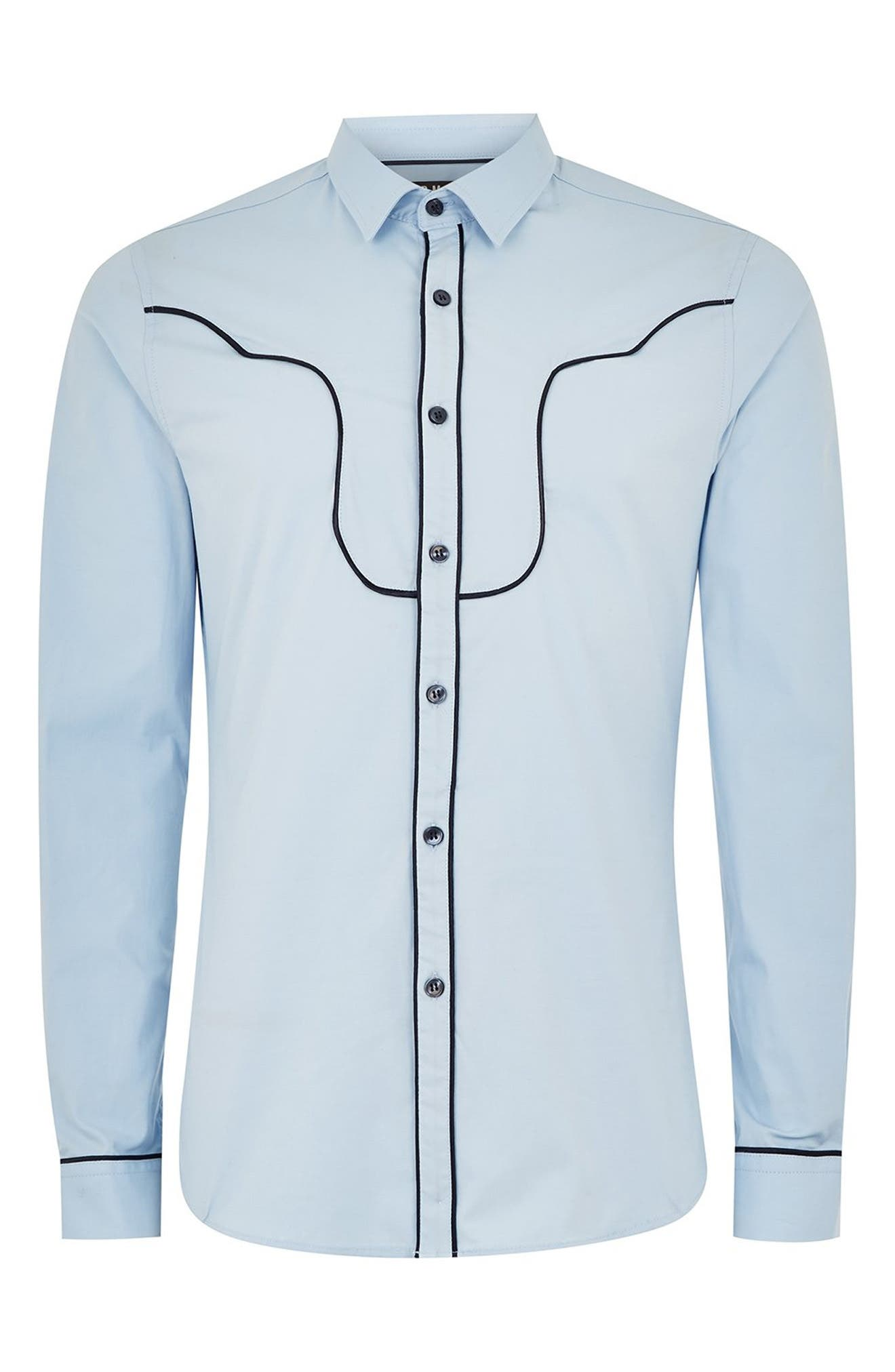 Classic Fit Western Sport Shirt,                             Alternate thumbnail 4, color,                             450