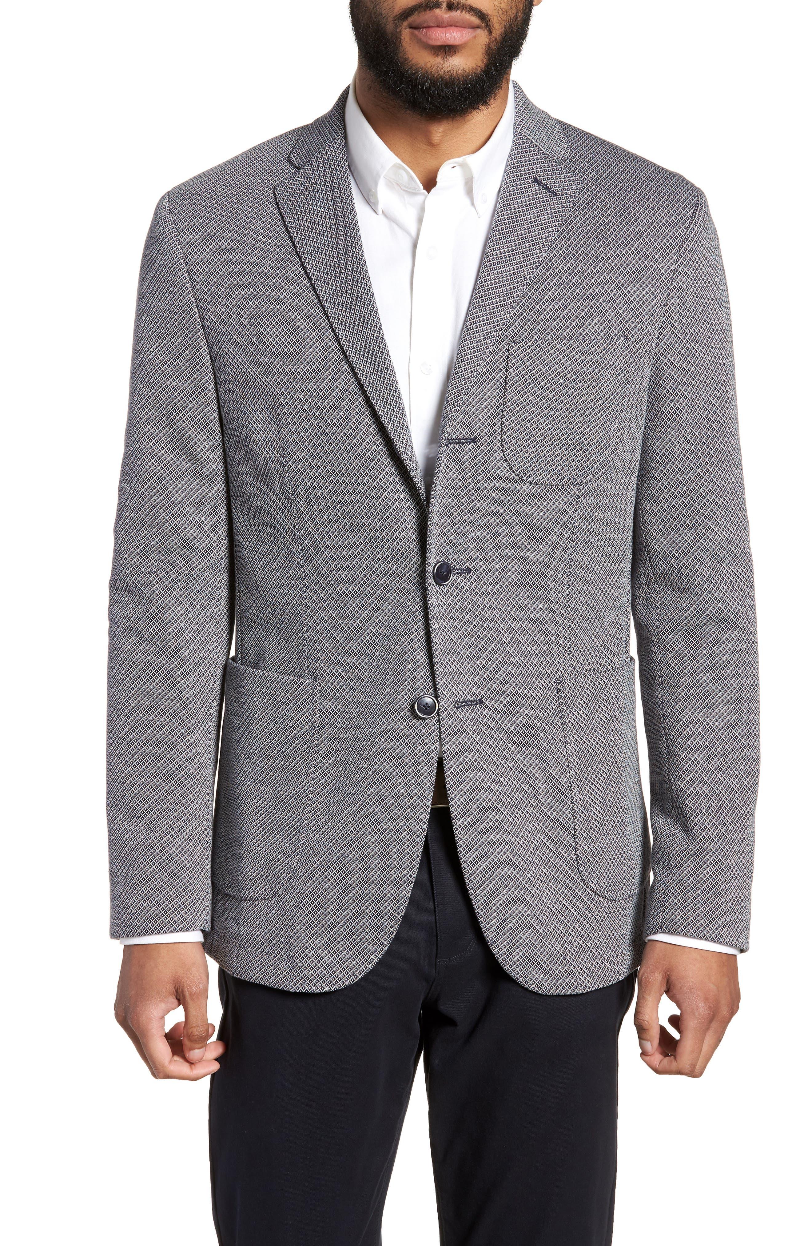 Trim Fit Cotton Blend Blazer,                         Main,                         color, 410