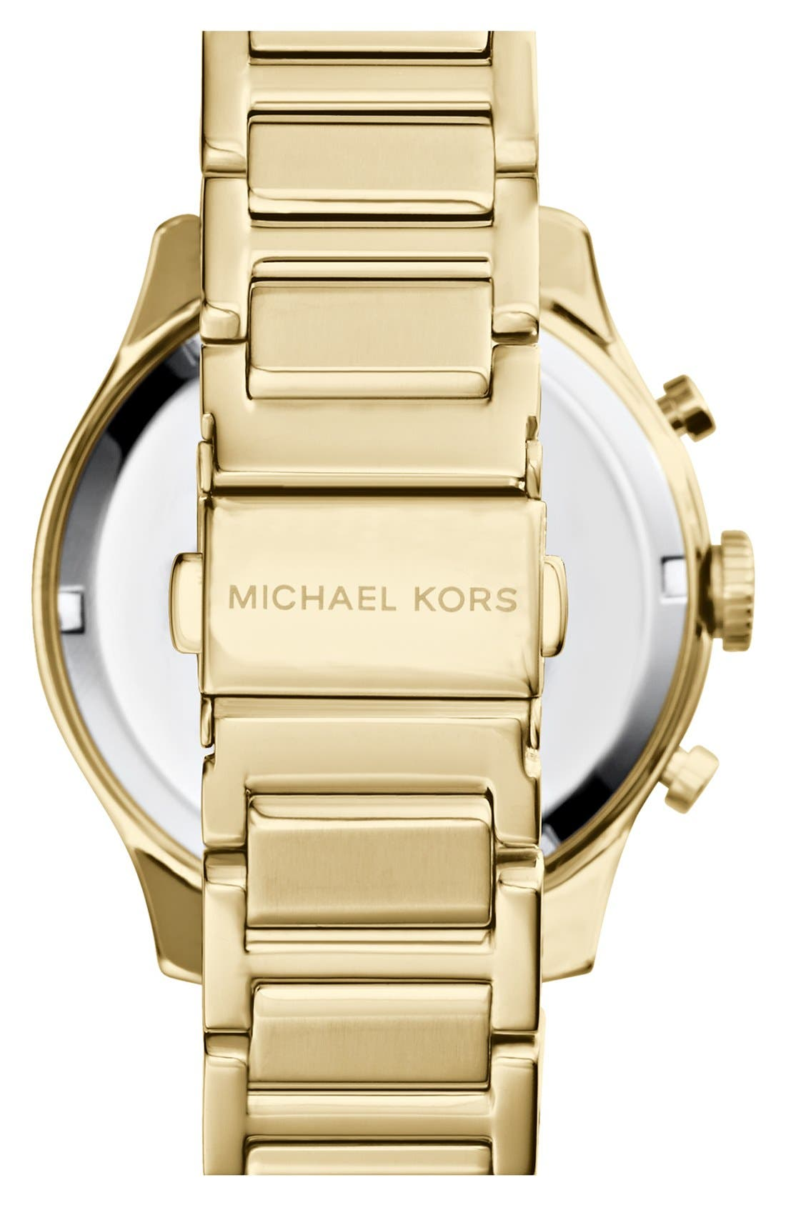 MICHAEL MICHAEL KORS,                             Michael Kors 'Bailey' Chronograph Bracelet Watch, 44mm,                             Alternate thumbnail 3, color,                             710