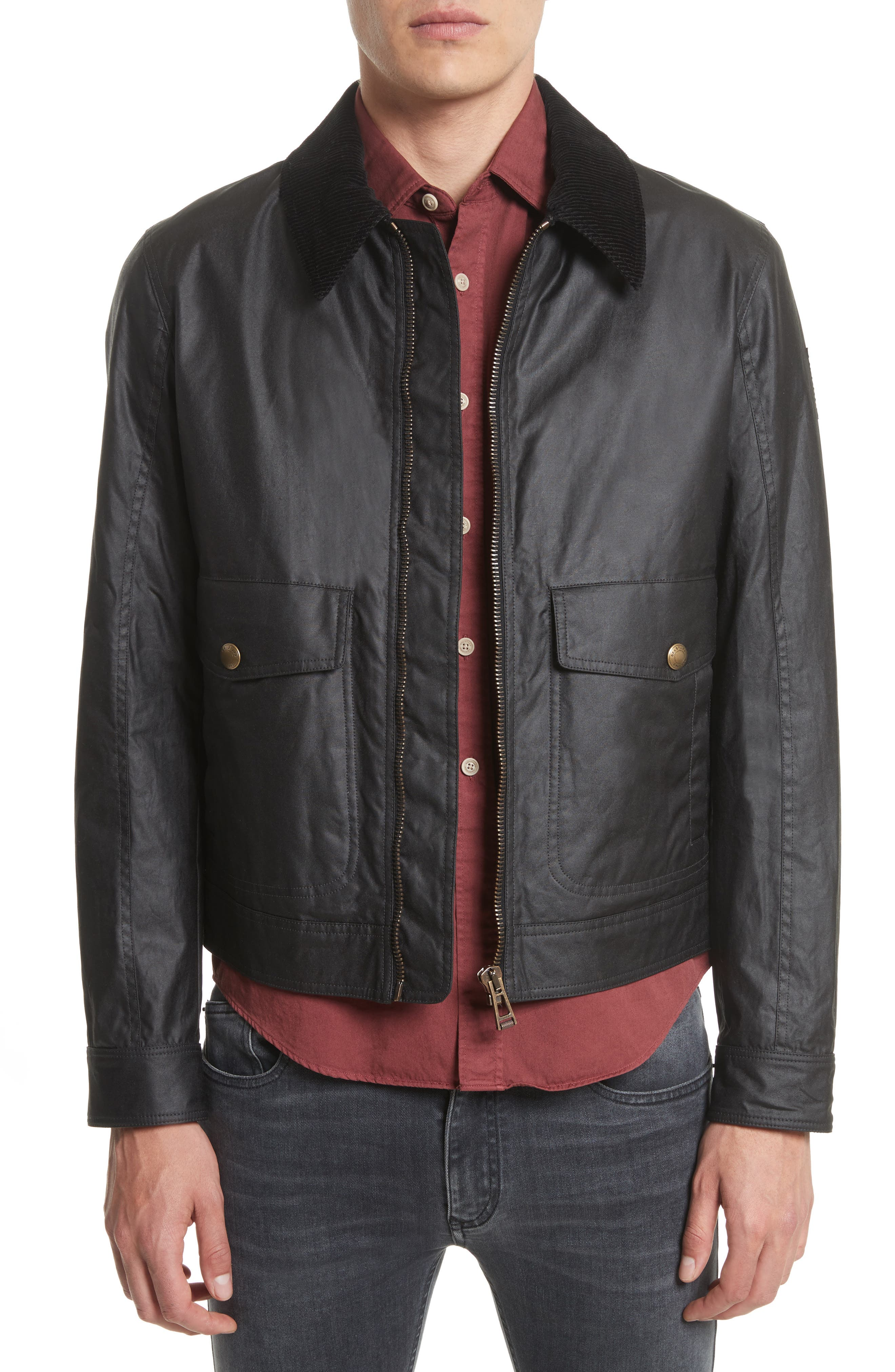 Mentmore Waxed Cotton Jacket,                         Main,                         color, 001