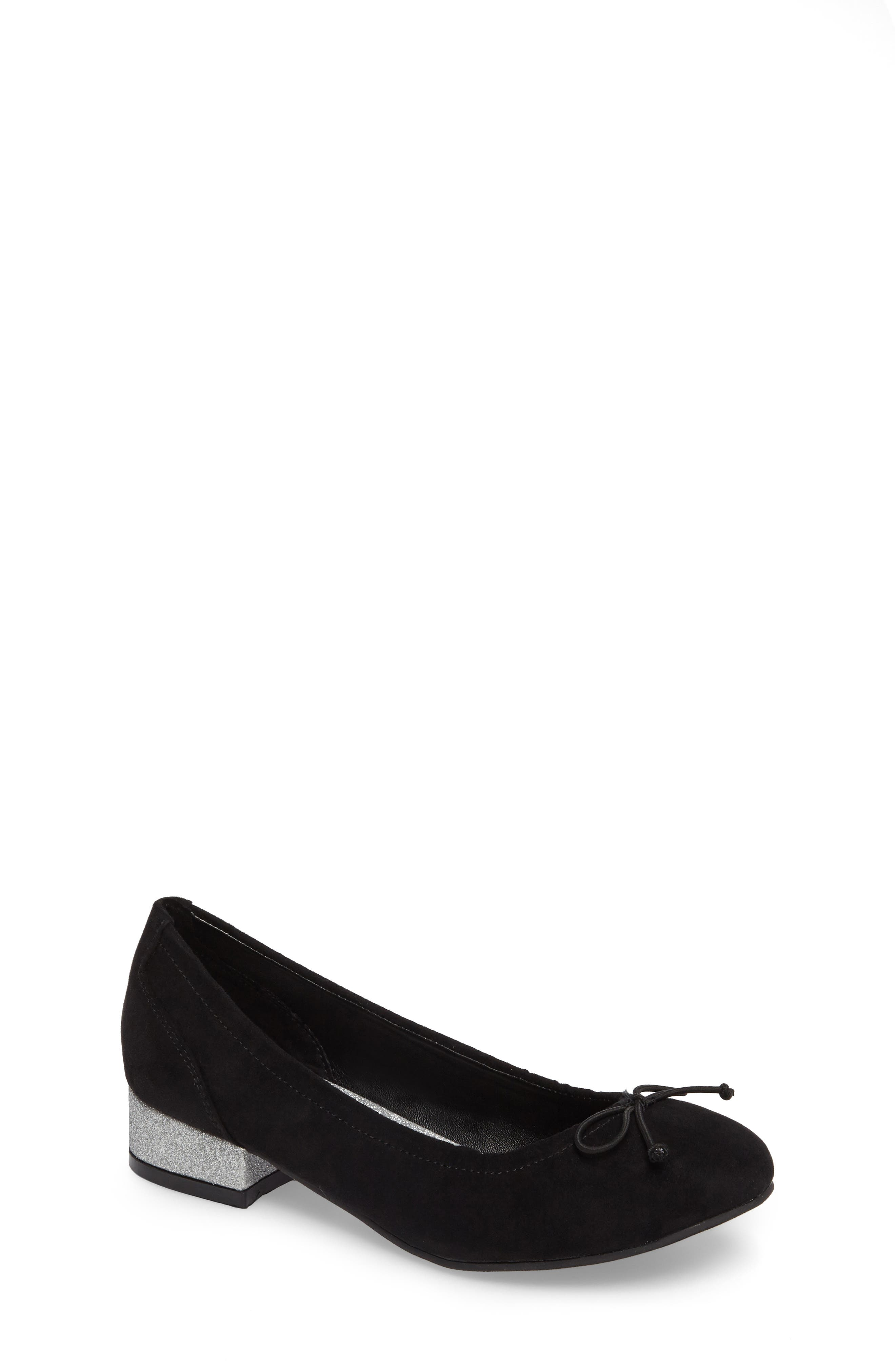 Tap Heel Glittery Slip-On,                         Main,                         color, 001