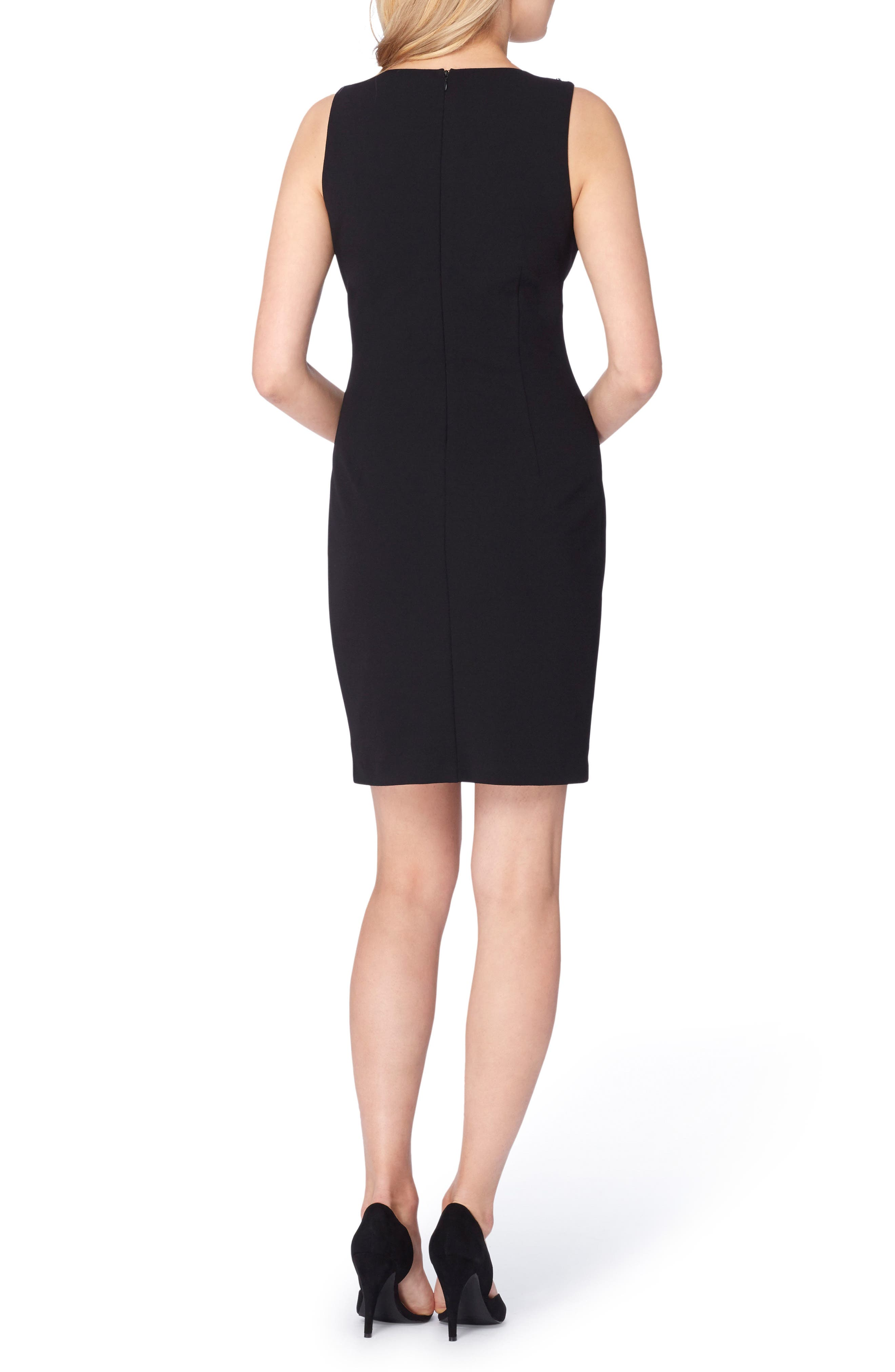 Embellished Sheath Dress,                             Alternate thumbnail 2, color,                             001