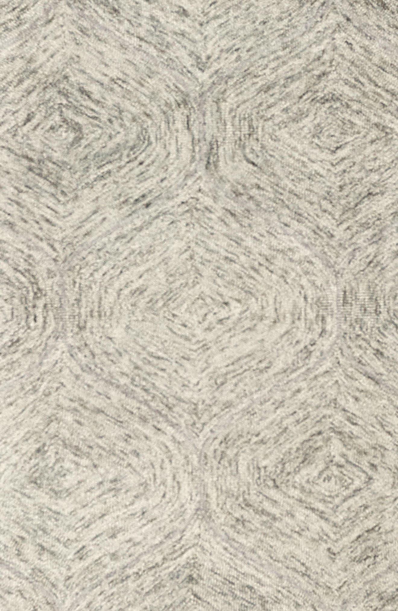 Irregular Diamond Hand Tufted Wool Area Rug,                             Alternate thumbnail 12, color,