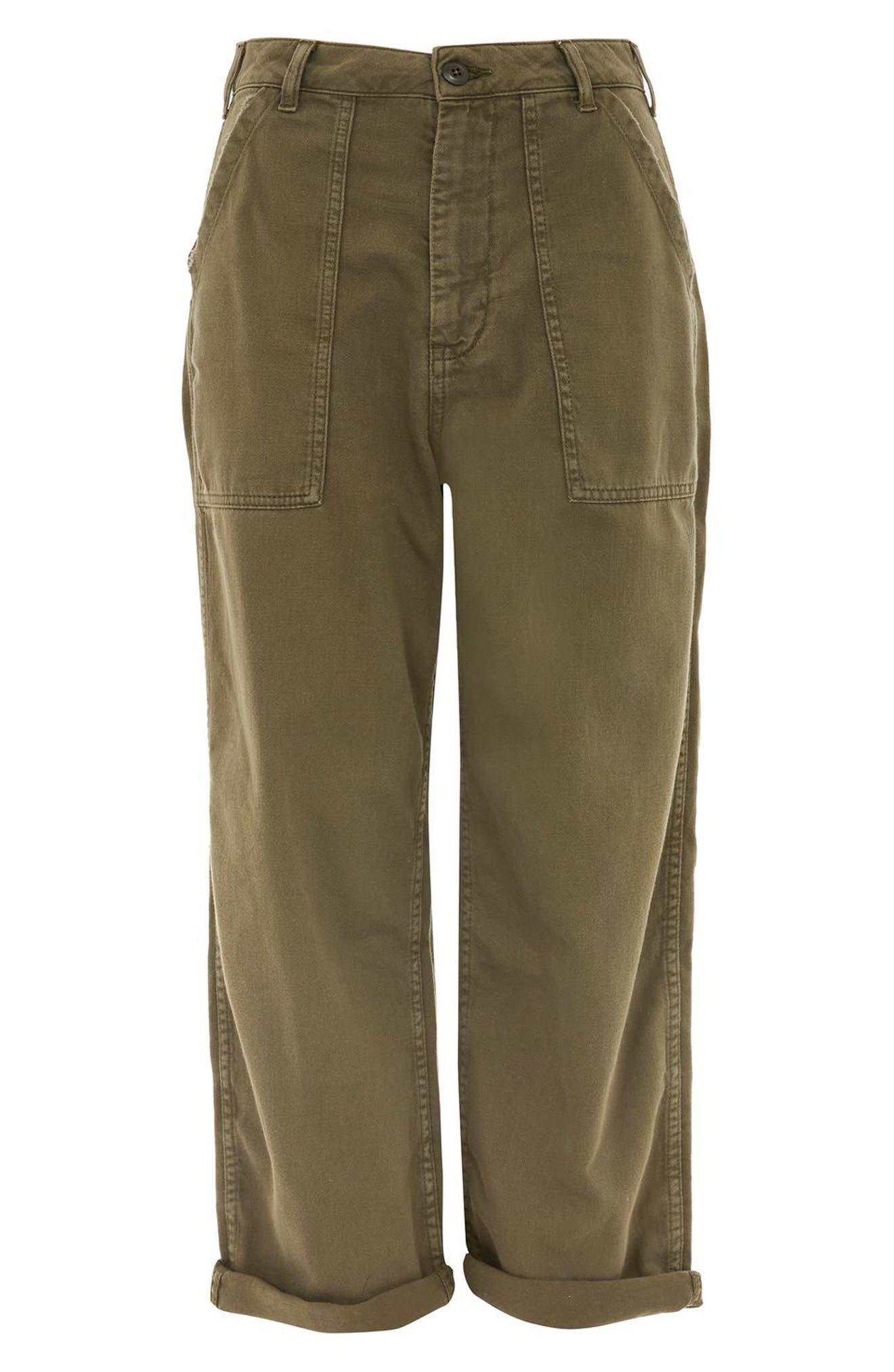 Wide Leg Utility Trousers,                             Alternate thumbnail 4, color,