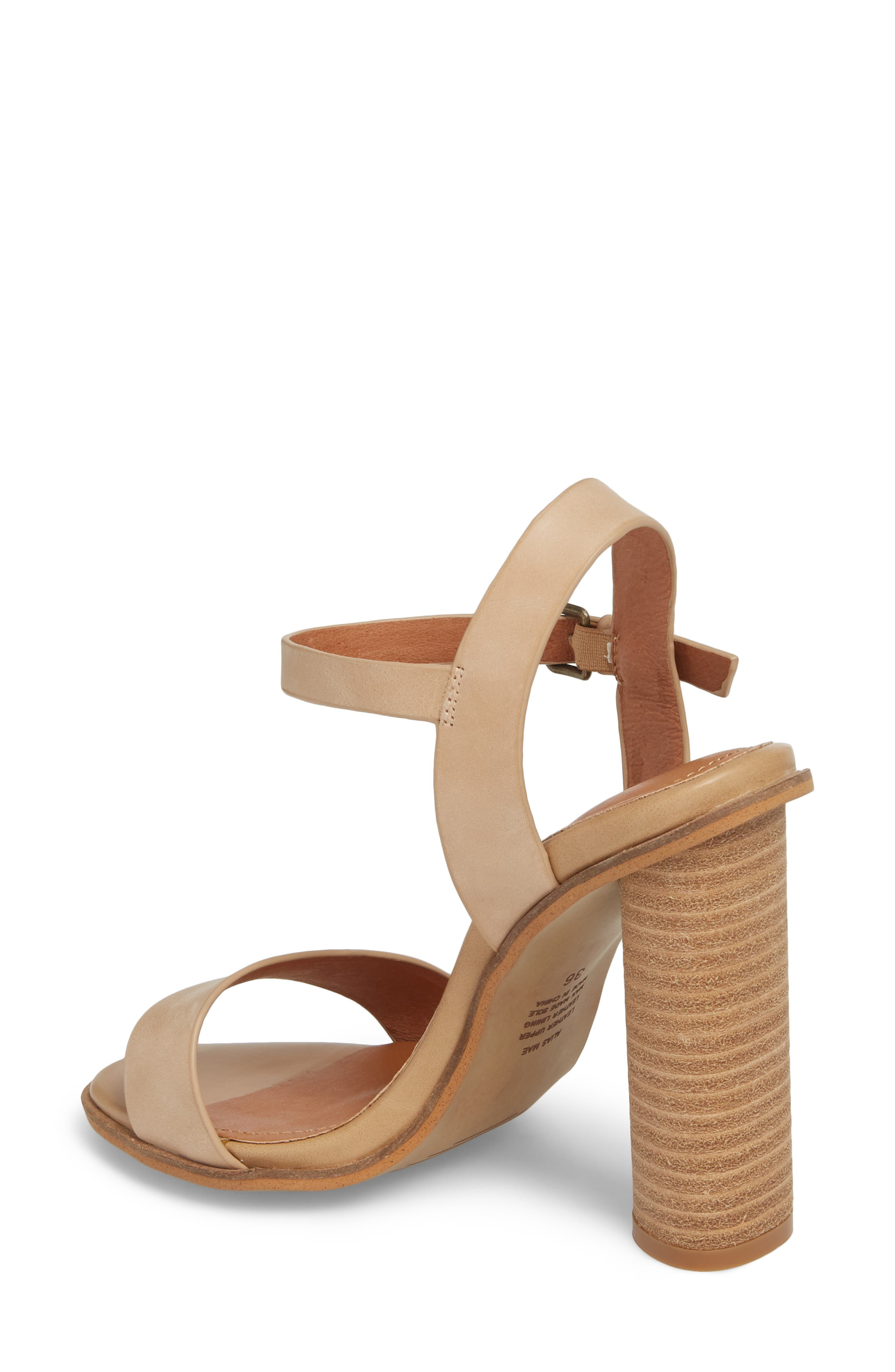 Abagail Sandal,                             Alternate thumbnail 2, color,                             NATURAL LEATHER