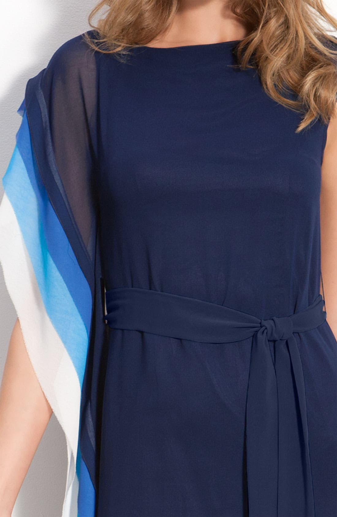 VINCE CAMUTO,                             Asymmetric Layered Tier Dress with Sash Tie,                             Alternate thumbnail 2, color,                             405