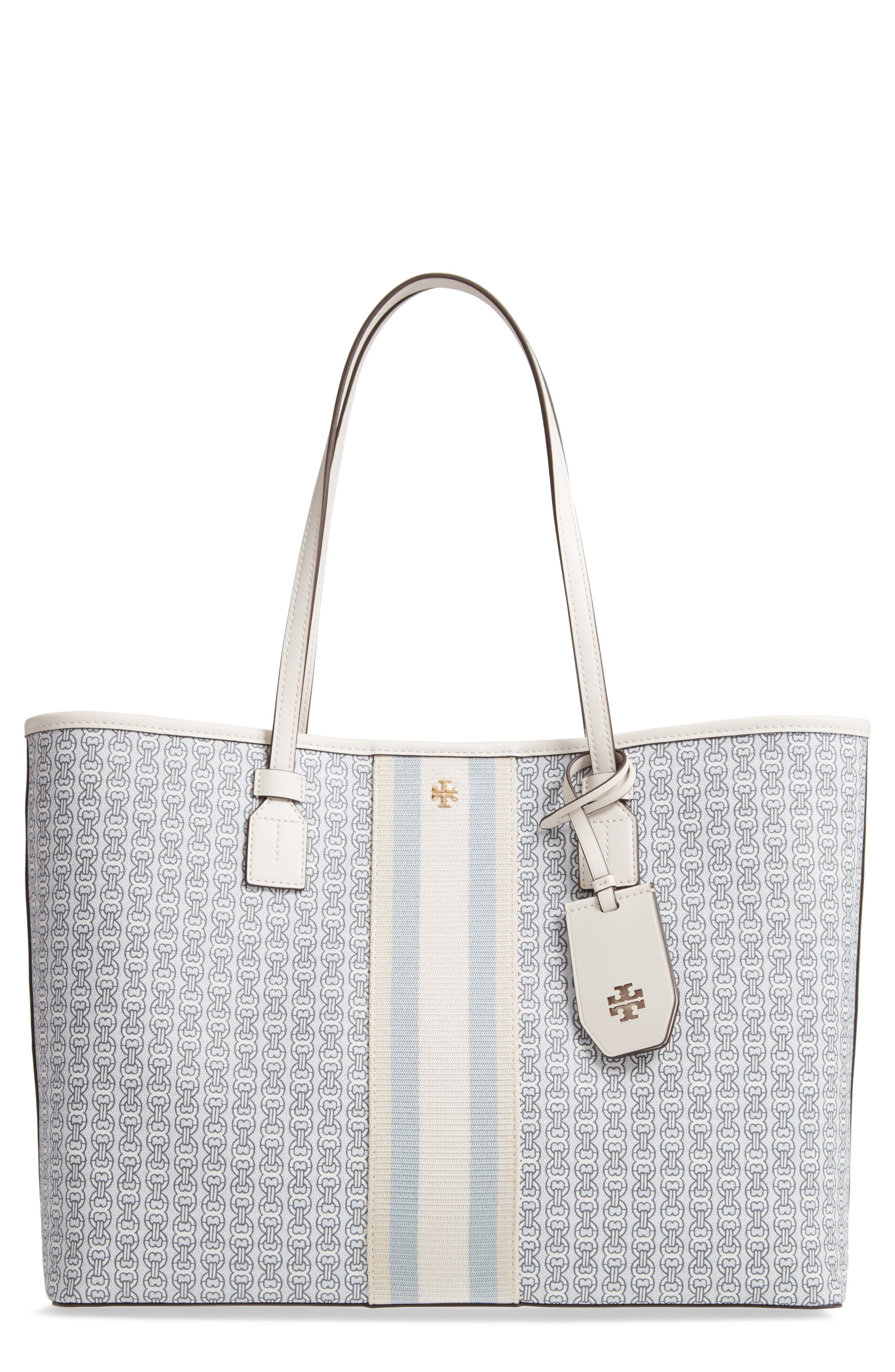 Gemini Link Coated Canvas Tote,                             Main thumbnail 1, color,                             NEW IVORY