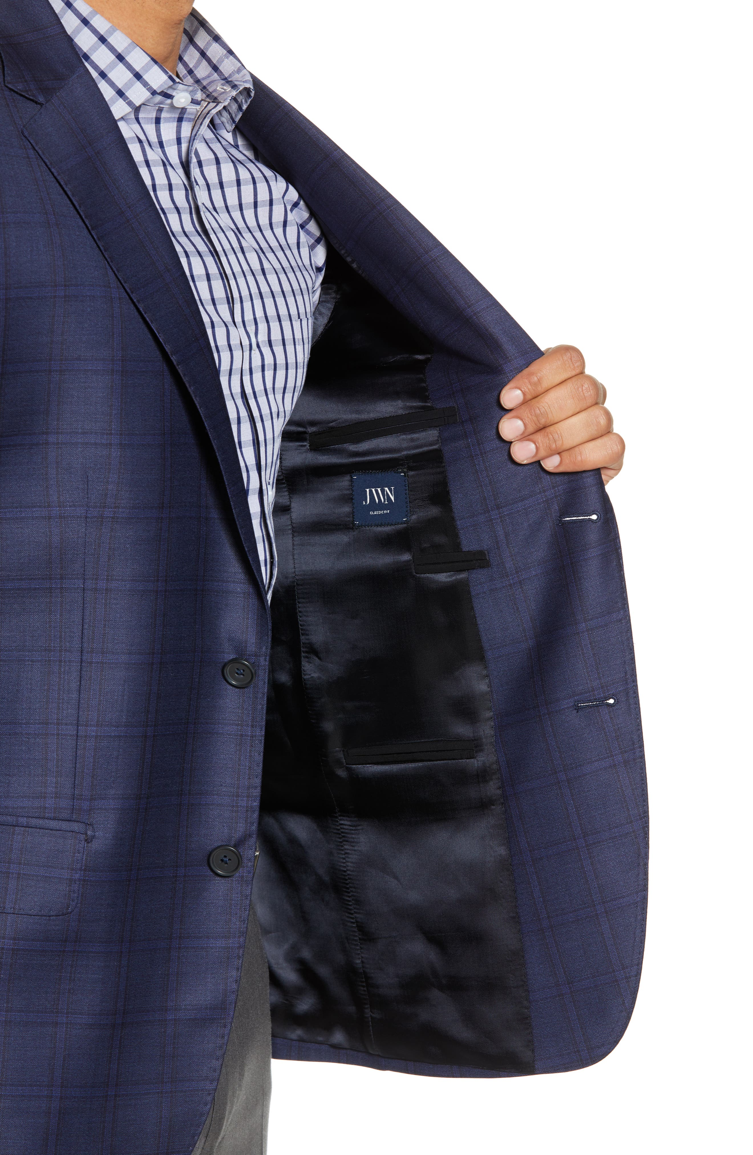 JOHN W. NORDSTROM<SUP>®</SUP>,                             Traditional Fit Plaid Wool Sport Coat,                             Alternate thumbnail 4, color,                             420