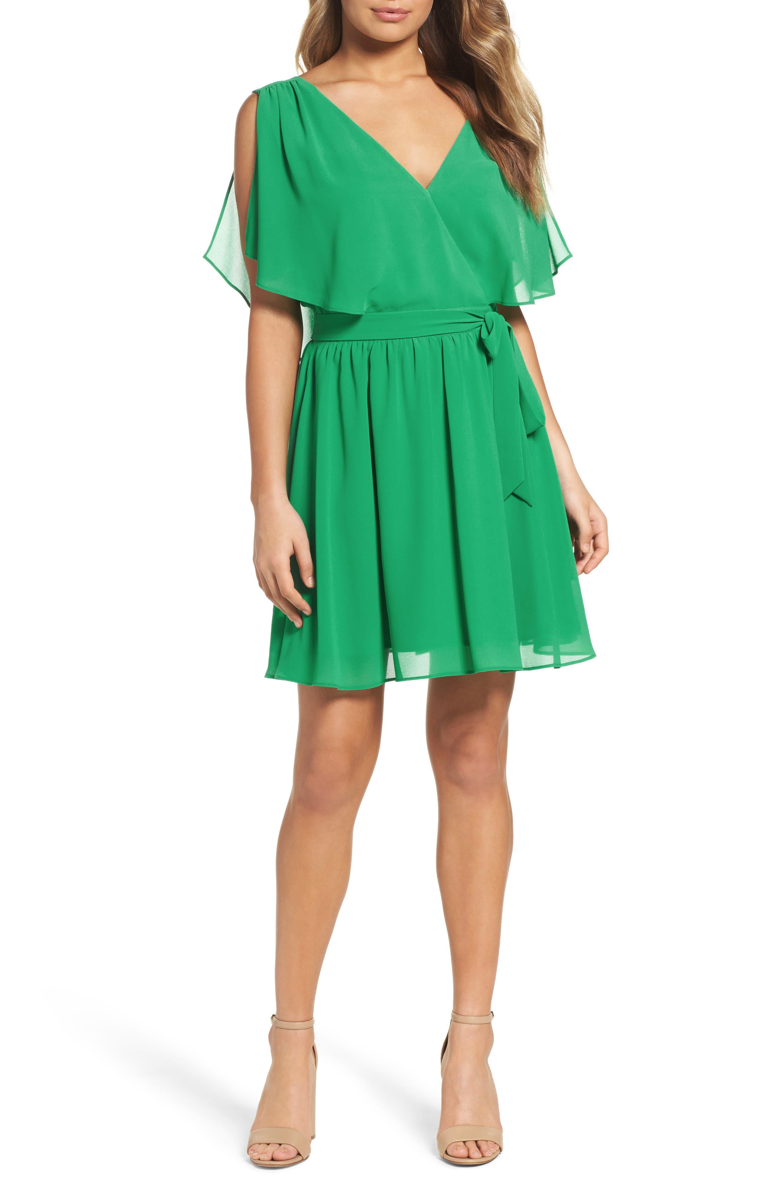 BB Dakota Catia Fit & Flare Dress,                         Main,                         color, 300