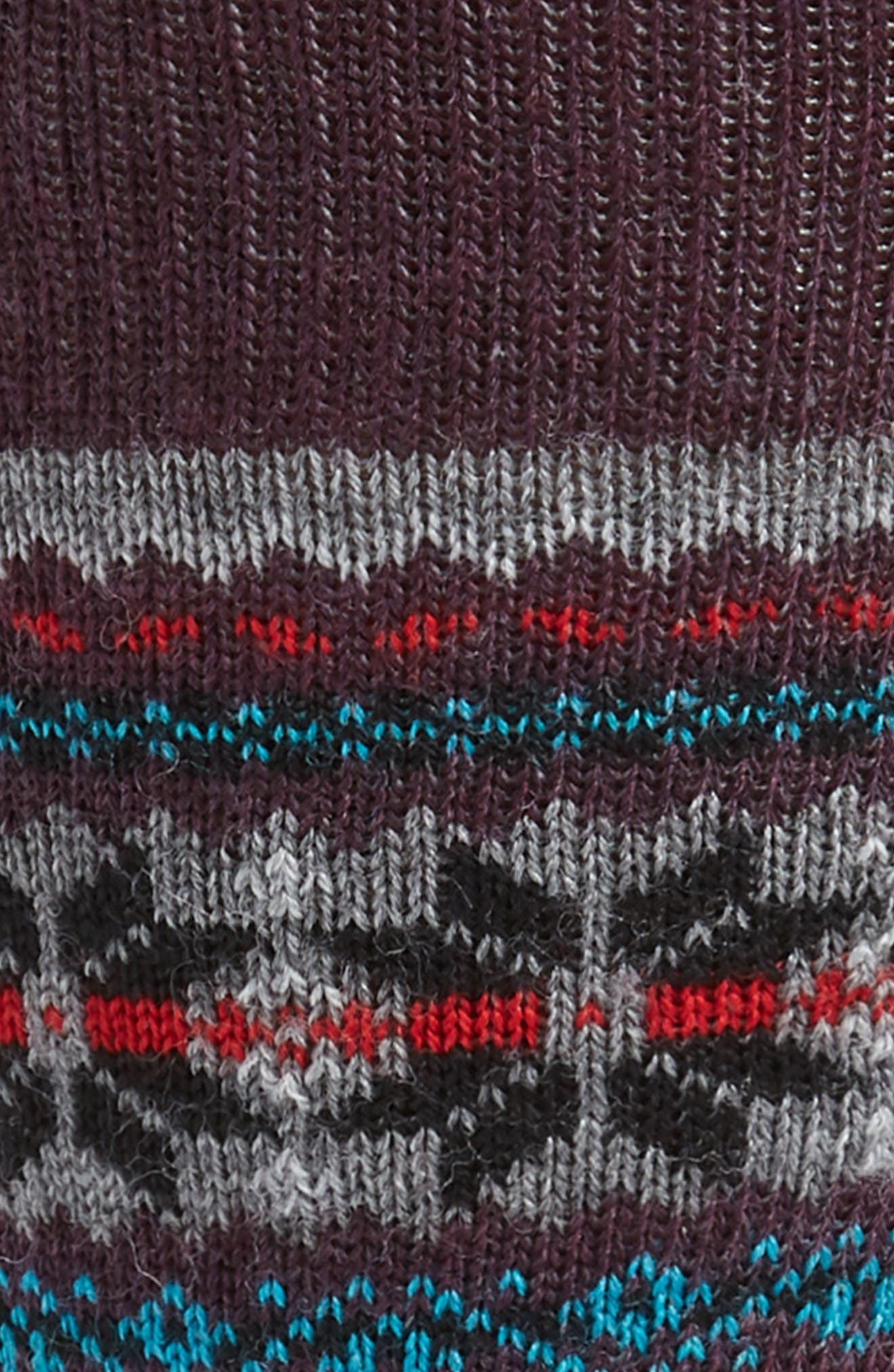 x CHUP Snowflake Socks,                             Alternate thumbnail 2, color,                             BORDEAUX HEATHER