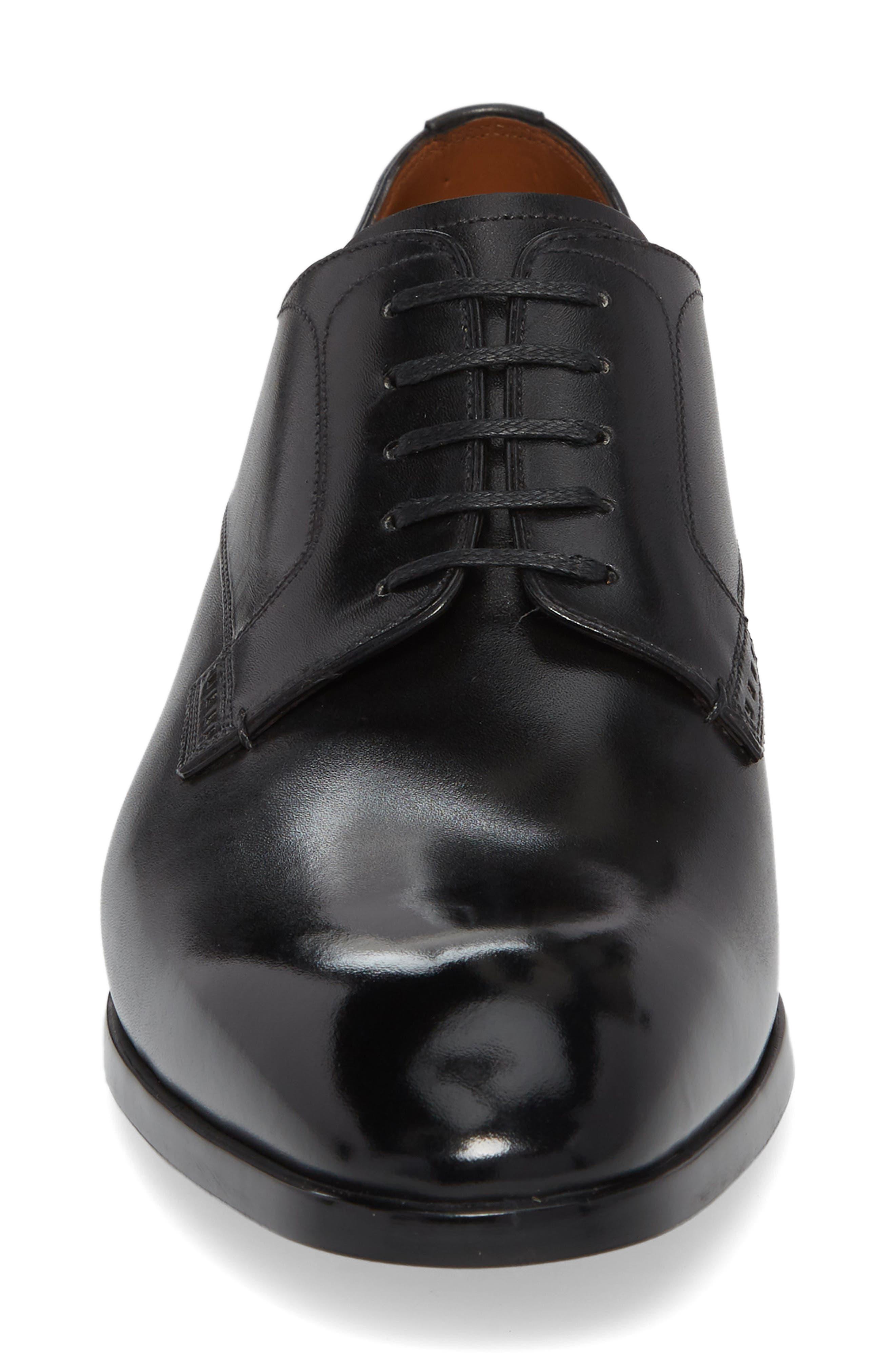 Lantel Plain Toe Derby,                             Alternate thumbnail 4, color,                             BLACK