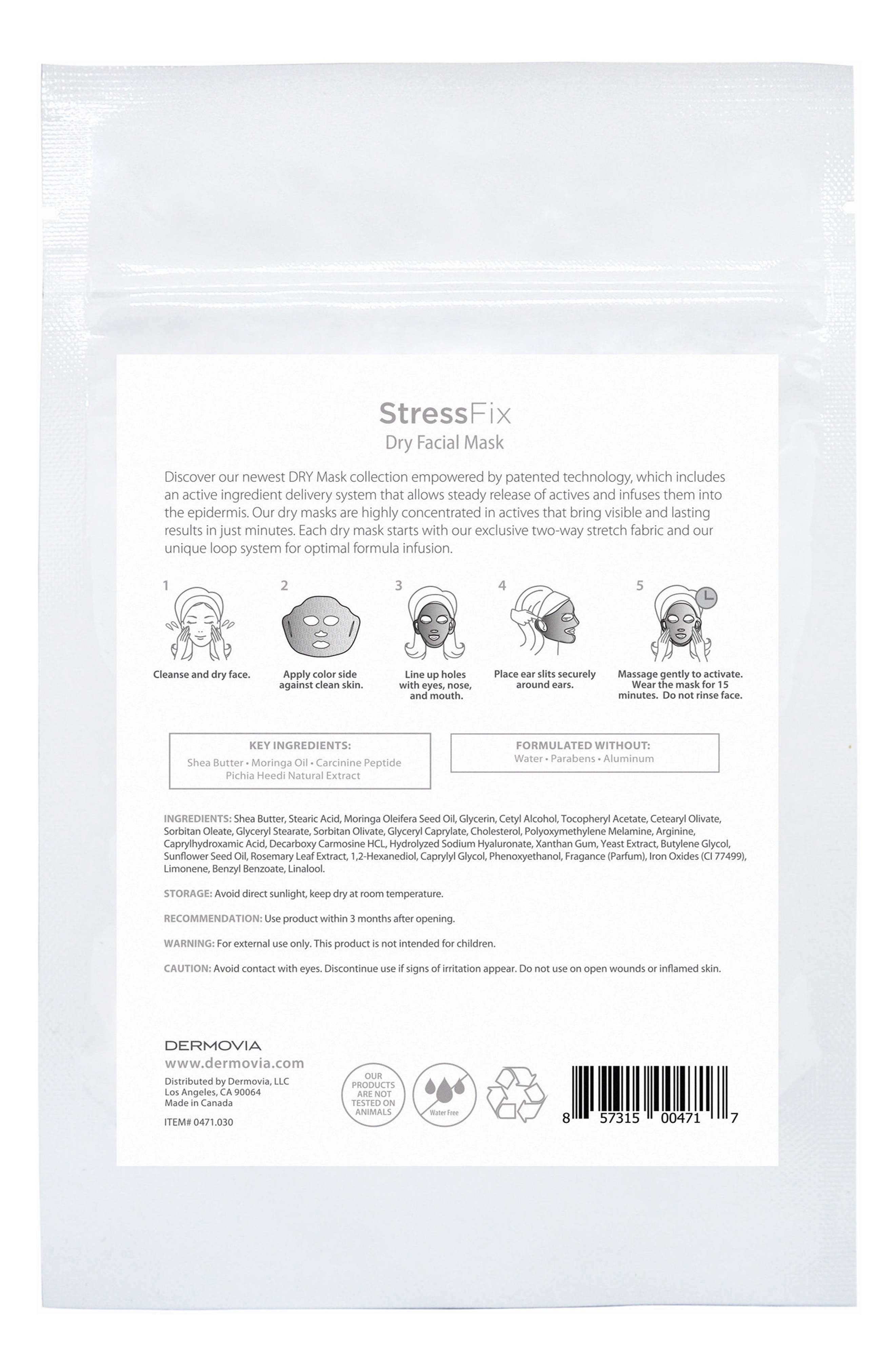 DRY Mask StressFix Waterless Facial Mask,                             Alternate thumbnail 3, color,                             NO COLOR