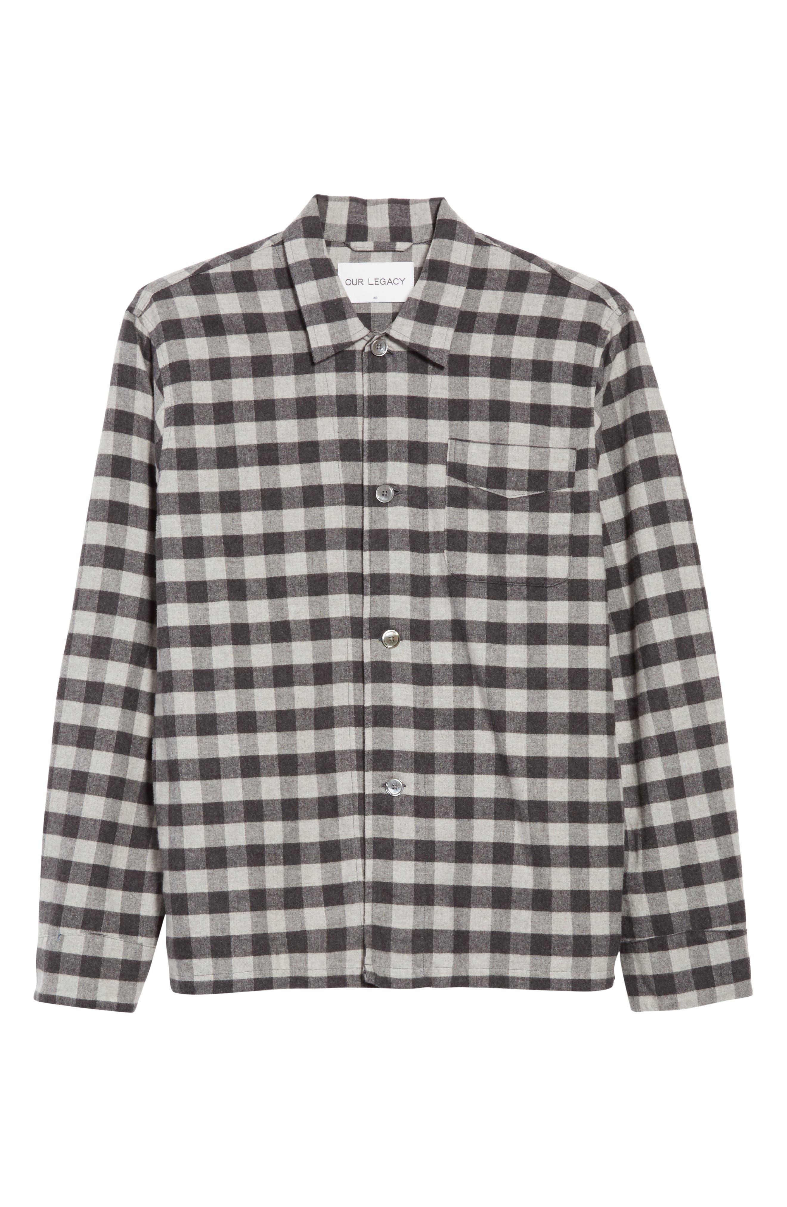 Buffalo Check Flannel Sport Shirt,                             Alternate thumbnail 6, color,                             001